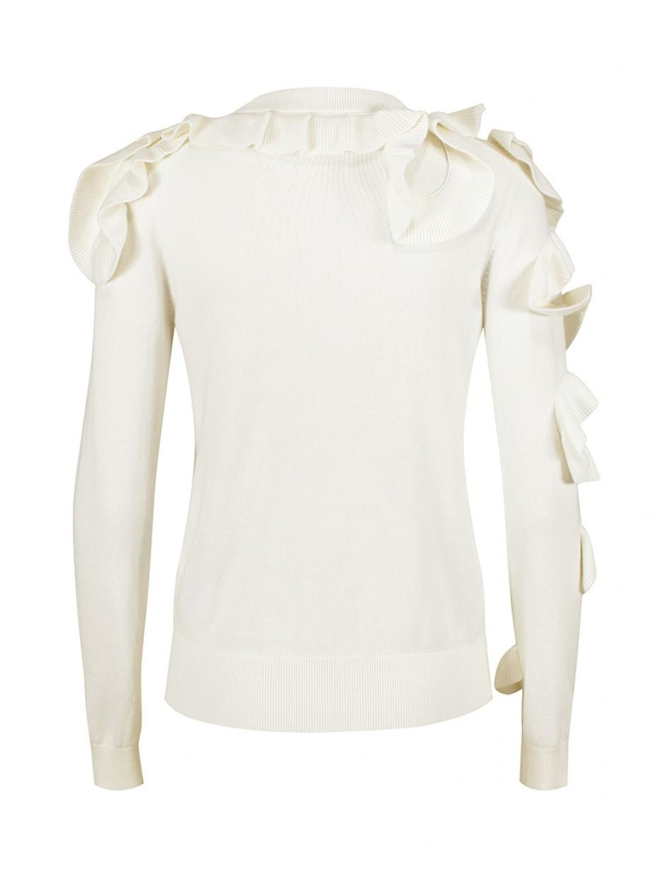 2c6b1aac8 Lyst - Ted Baker Women s Pallege Frill Sleeve And Shoulder Jumper in ...