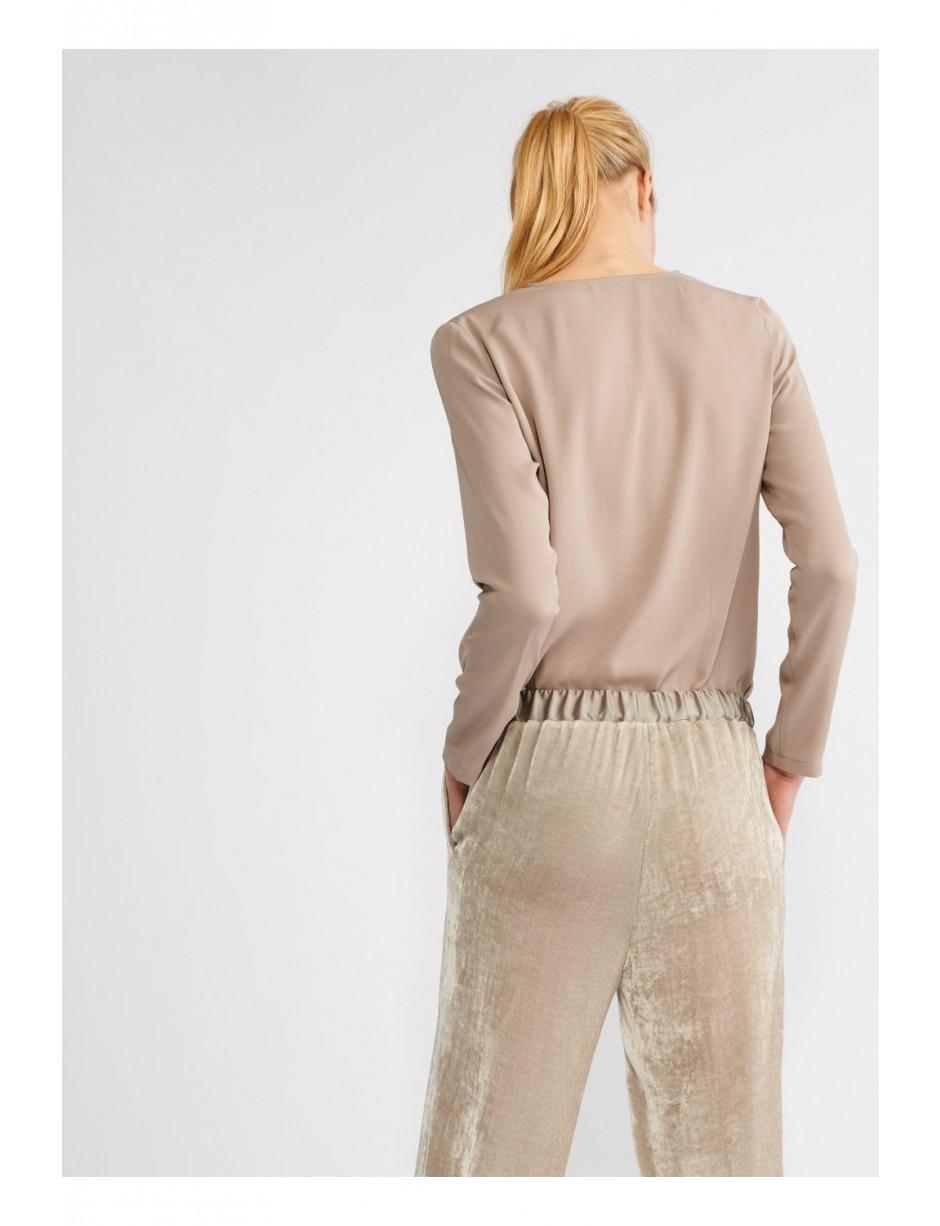 6c4a203951e21 Lyst - Fabiana Filippi Women s Stretch Silk Tp70518 Top In Brown in ...