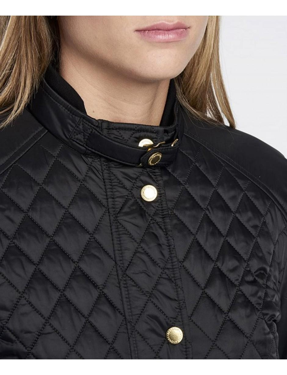 e61d4c79d53b1 Lyst - Barbour Port Gower Quilted Jacket in Black