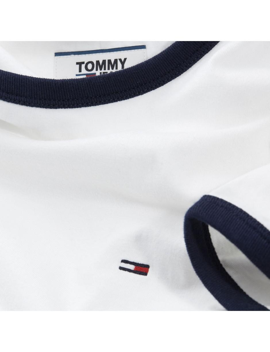 e3828a42 Tommy Hilfiger Tommy Jeans Mens Ringer T-shirt in White for Men - Lyst