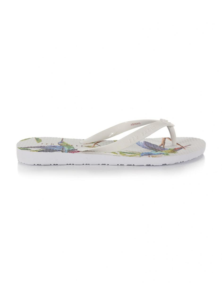 11c4a674d Ted Baker Women s Beaulup Flip Flops in White - Lyst
