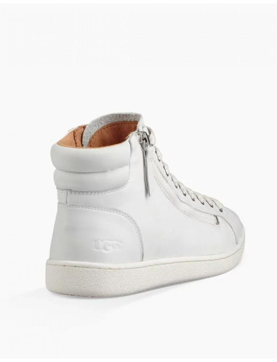 4779c0b2e61090 UGG Olive Hi Top Leather Trainers in White - Lyst