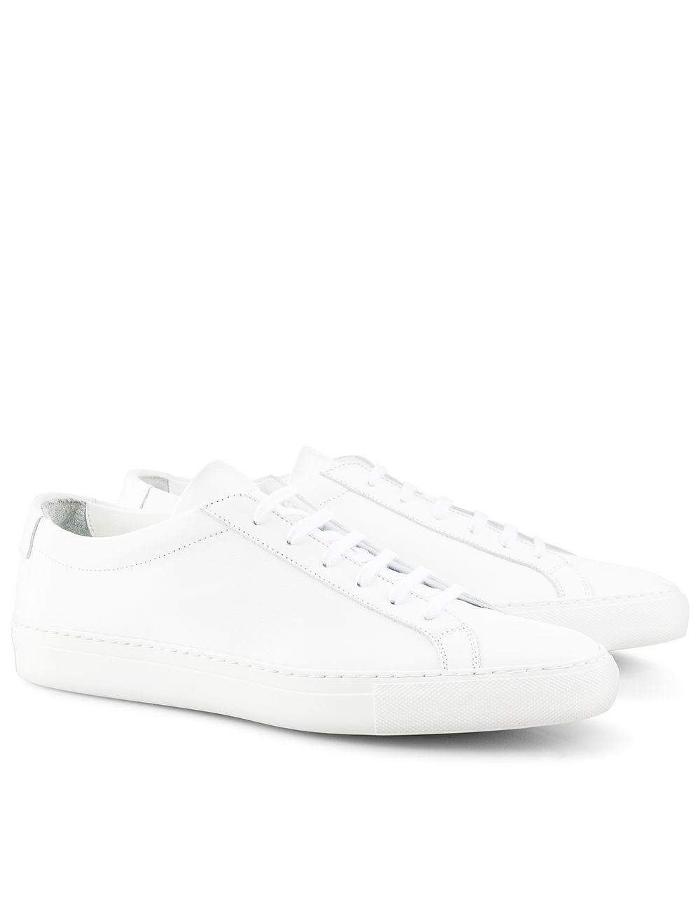common projects white leather low top achilles trainers in white lyst. Black Bedroom Furniture Sets. Home Design Ideas