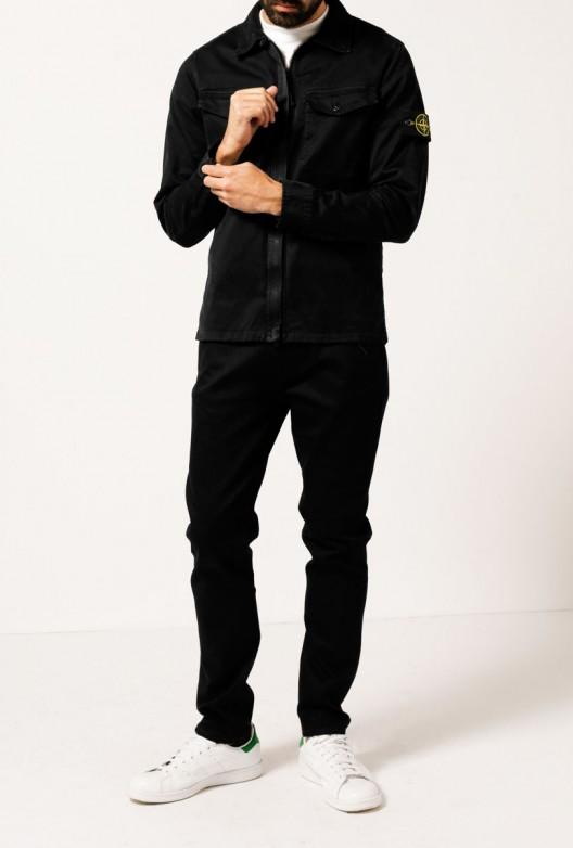 Stone Island - Black Overshirt Jacket for Men - Lyst
