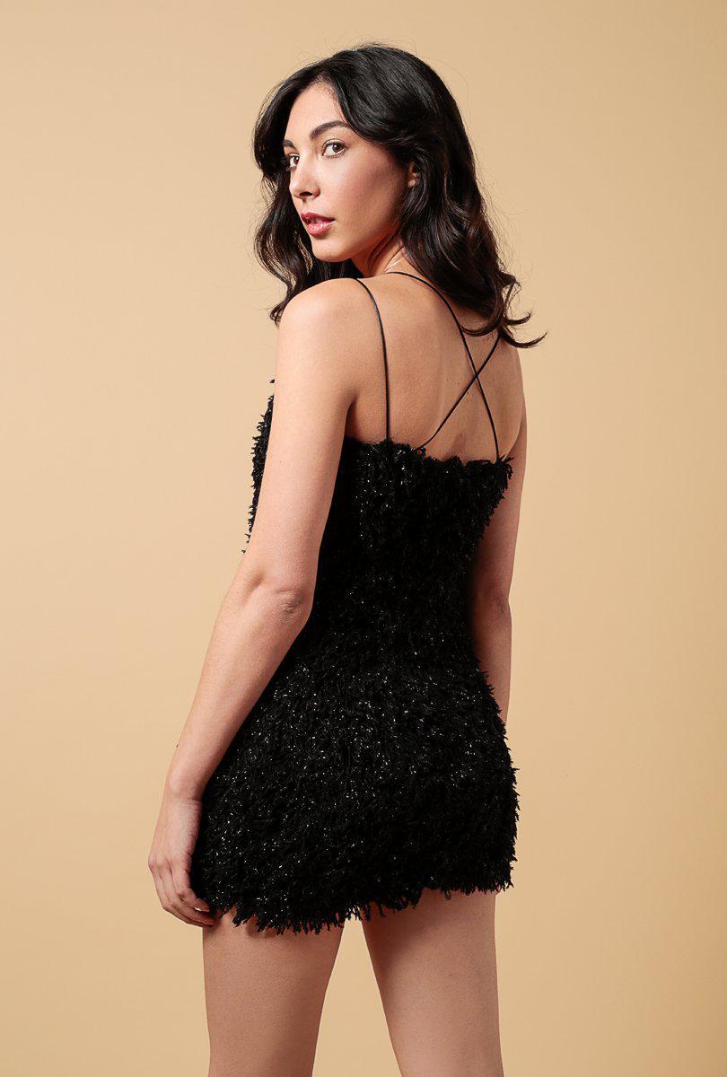 17a4588132f80 Azalea - Black Textured Metallic Backstrap Mini Dress - Lyst. View  fullscreen