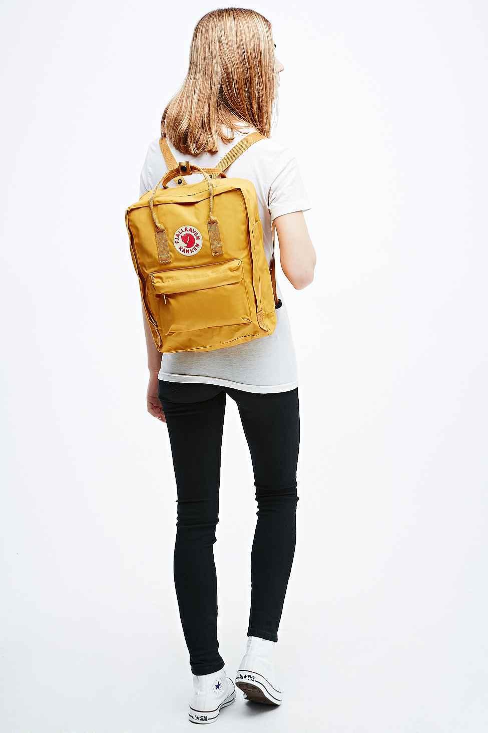 Fjallraven Kanken Backpack In Yellow In Yellow Lyst