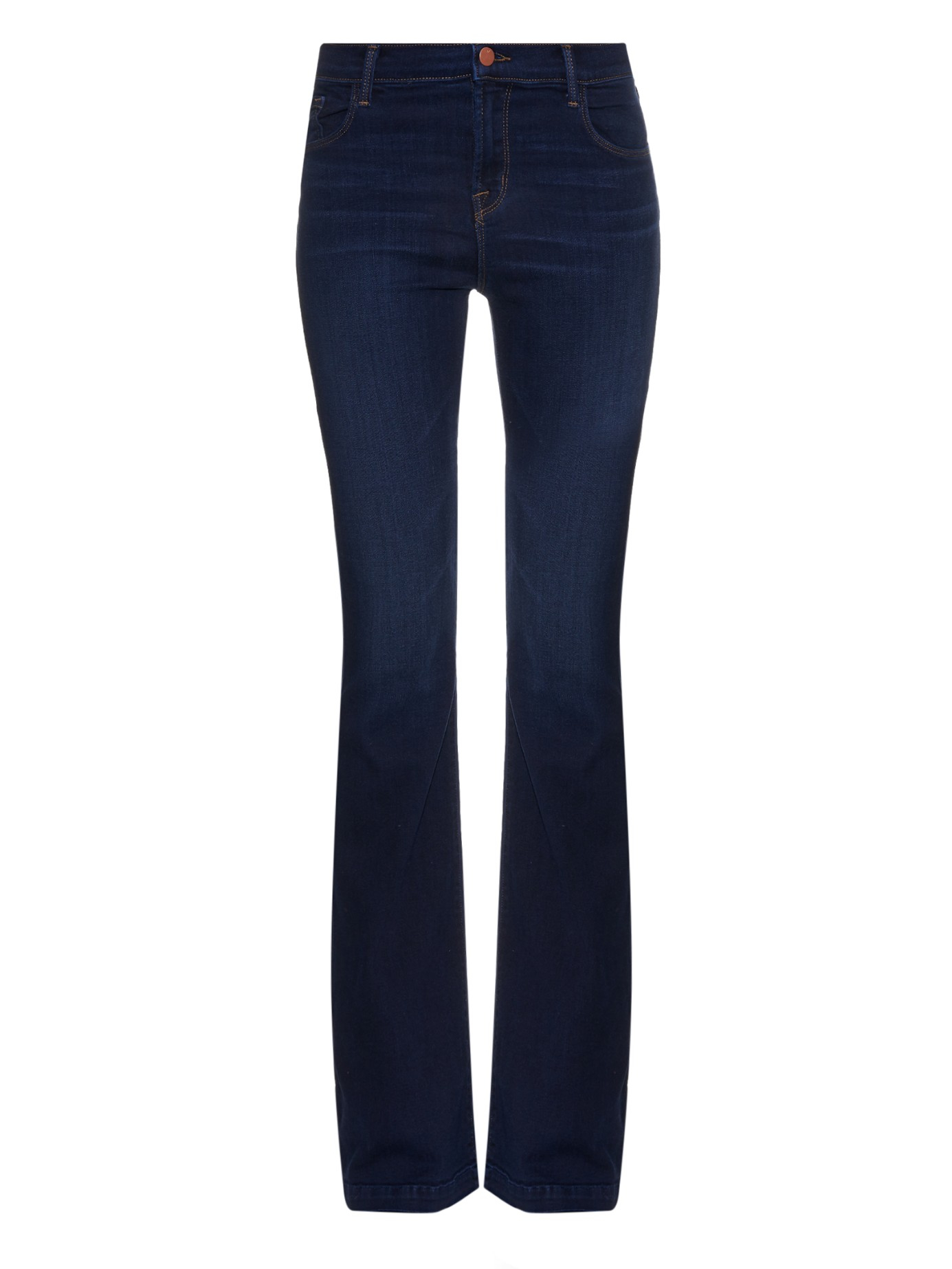 J brand Maria High-rise Flared Jeans in Blue | Lyst
