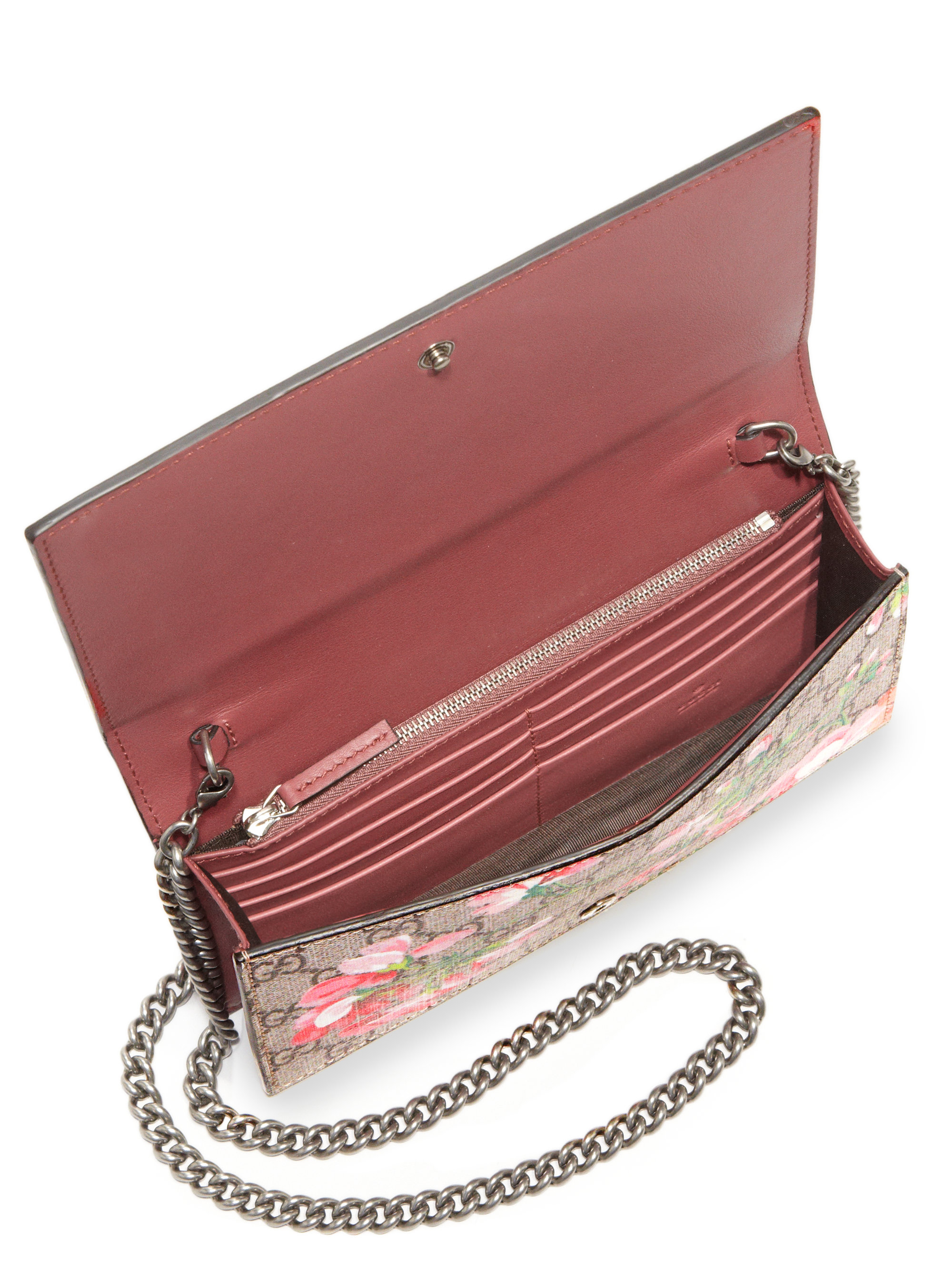 b1b4227ed61 Lyst Gucci Gg Blooms Supreme Chain Wallet. Gucci Wallet Chain Purse Best  Image Ccdbb
