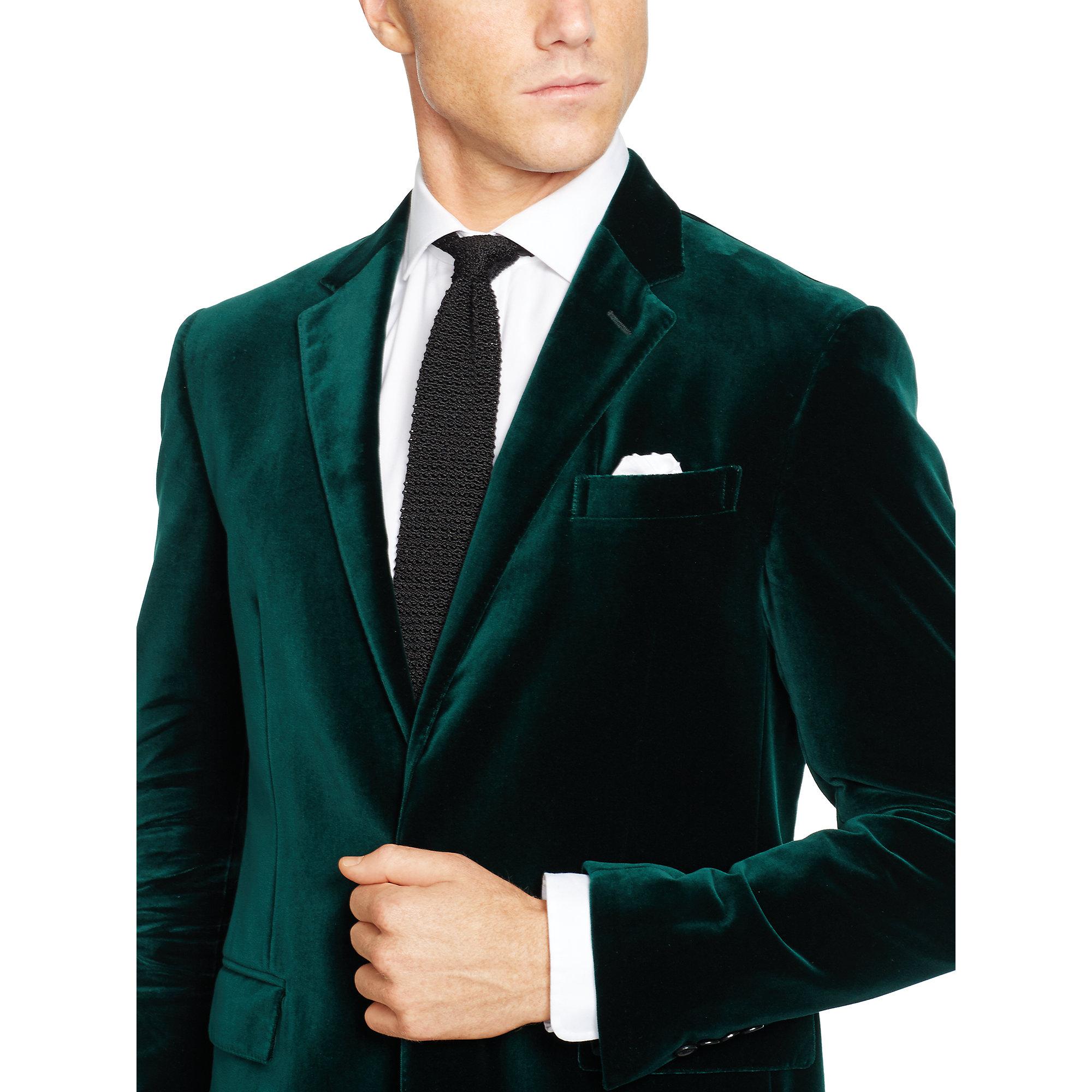 Polo ralph lauren Polo I Velvet Sport Coat in Green for Men | Lyst