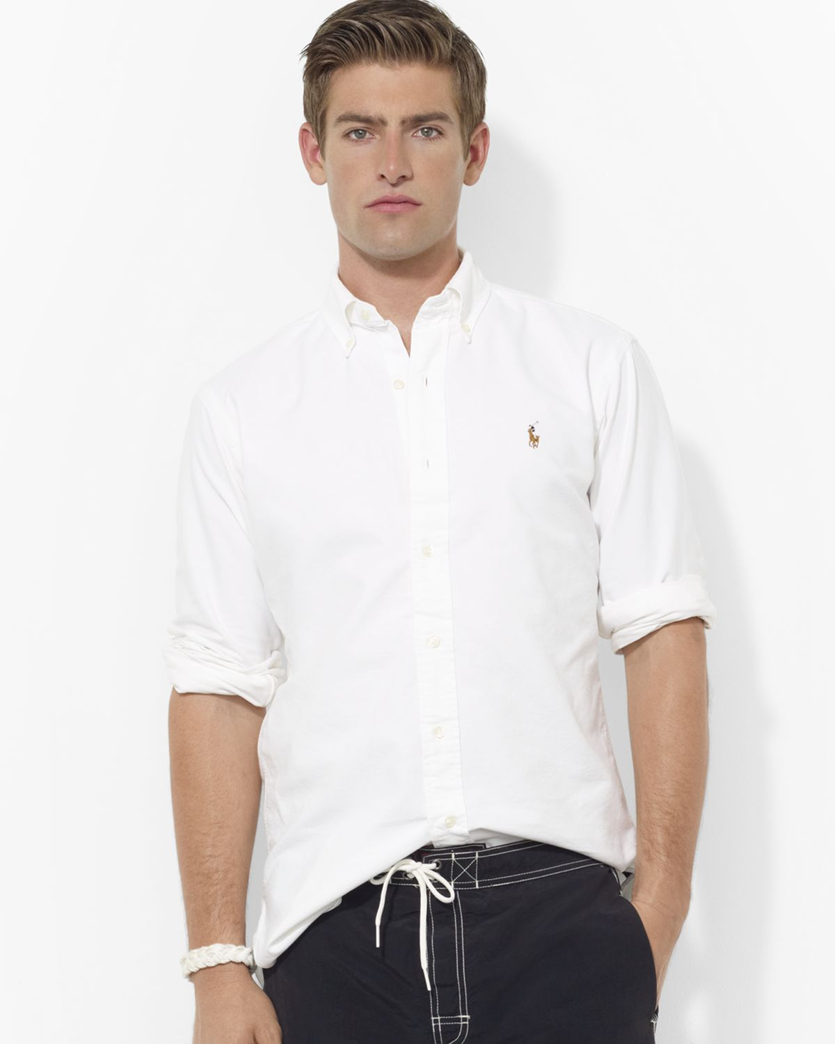 Ralph lauren Polo Oxford Classic Button Down Shirt in White for ...