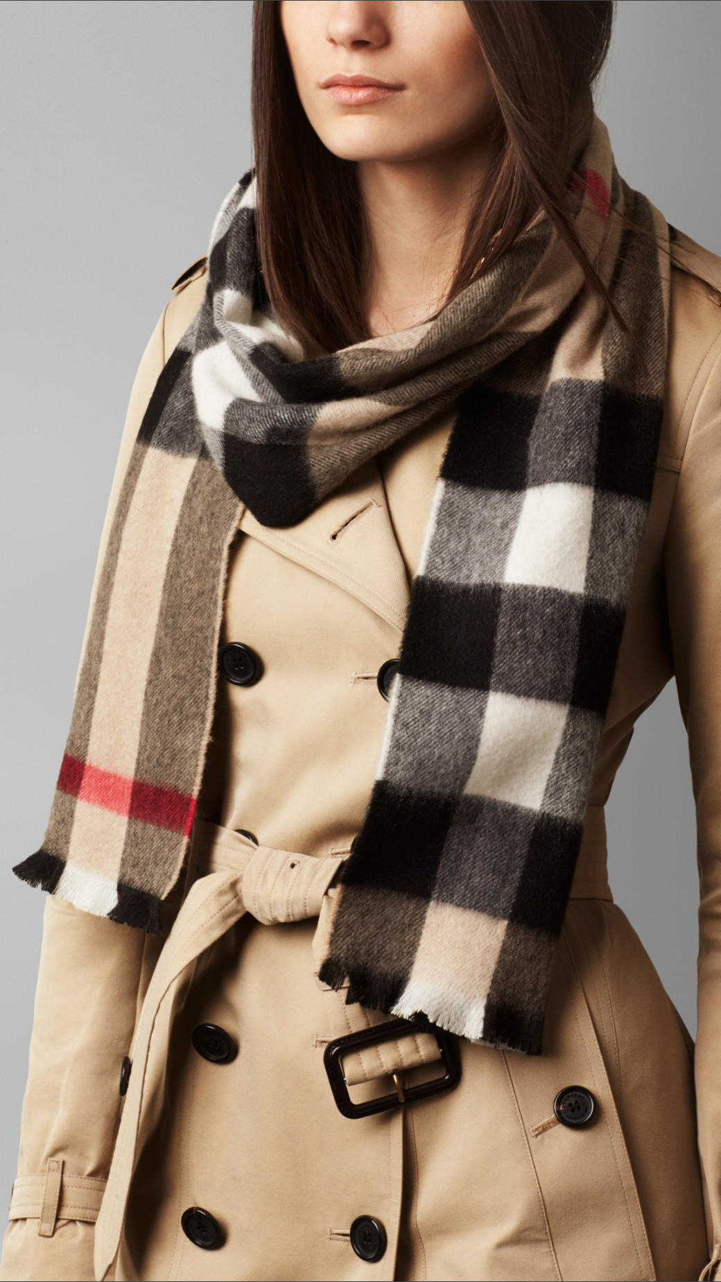 a8b770cd25e new zealand men burberry scarfs 86657 3daae  low price burberry exploded  check cashmere scarf in natural lyst 6bd1b 62038