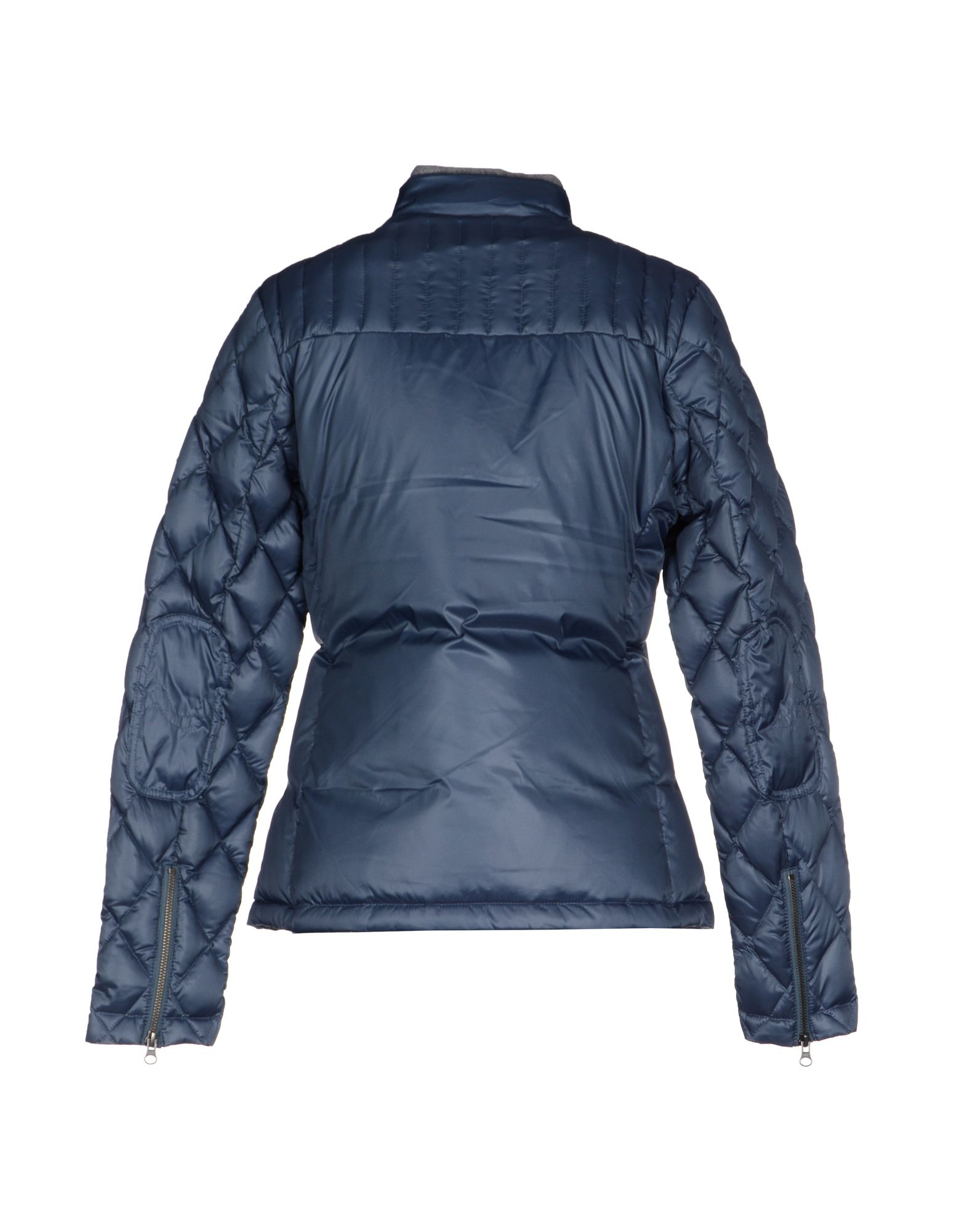 true religion down jacket in blue slate blue lyst. Black Bedroom Furniture Sets. Home Design Ideas