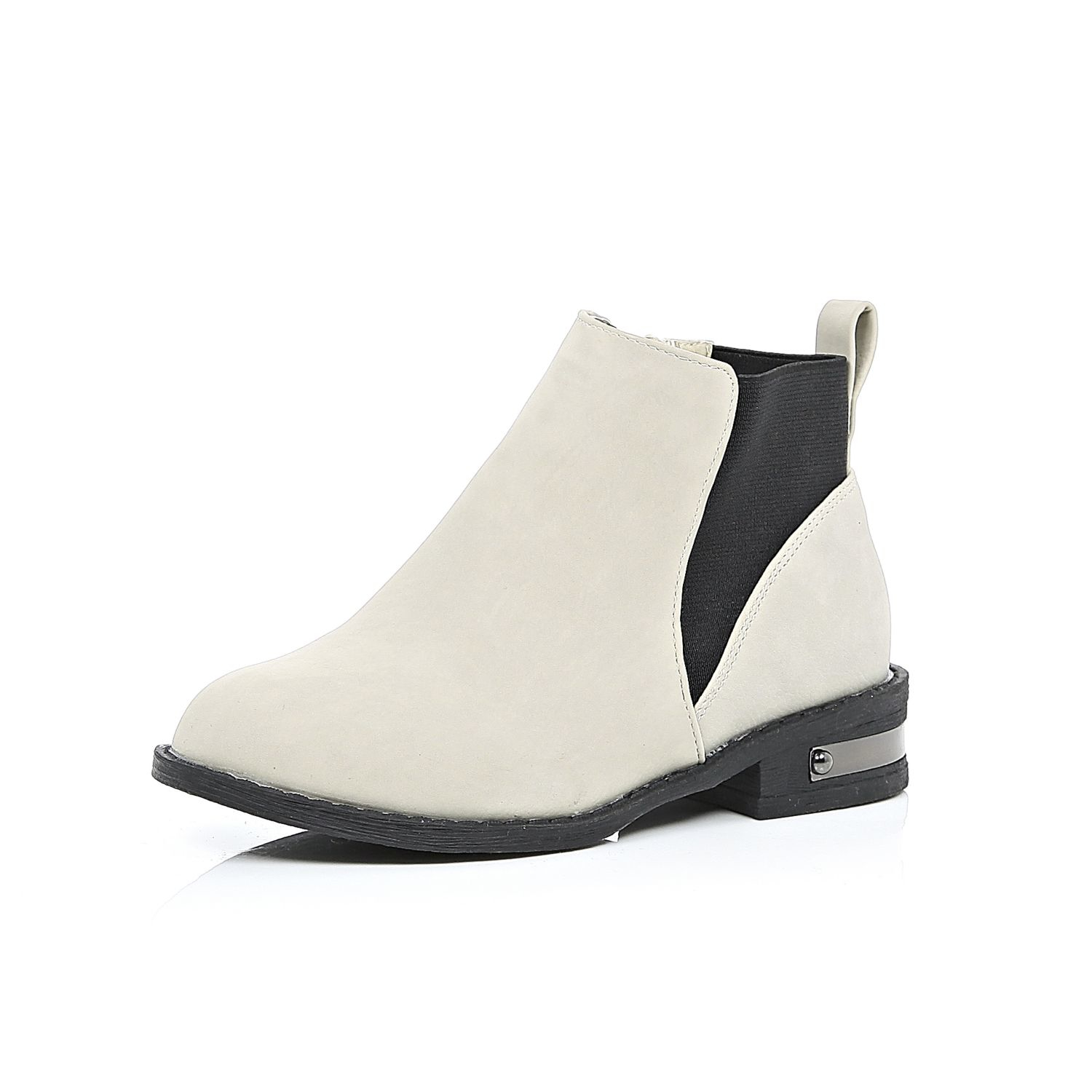 River island Girls Grey Chelsea Boots in Gray | Lyst