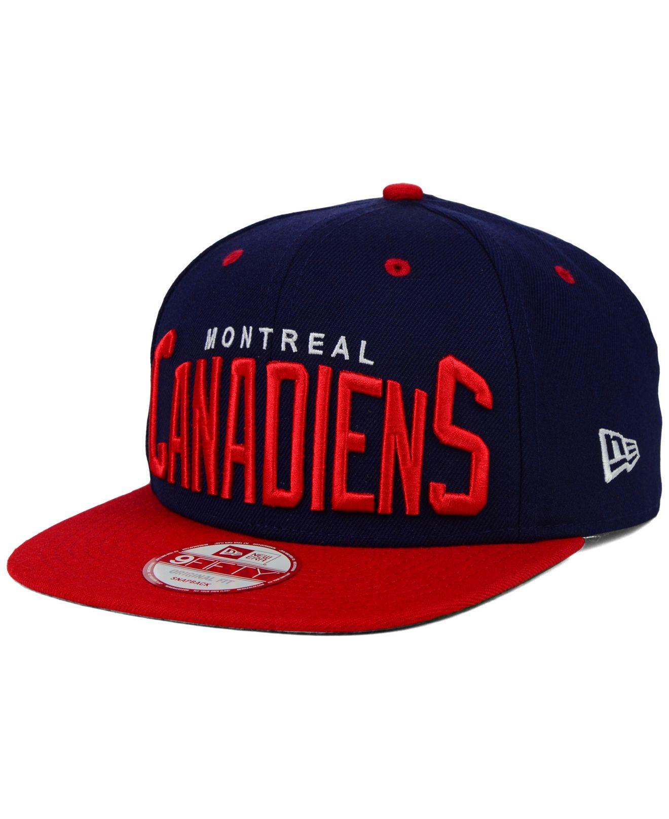 Lyst - KTZ Montreal Canadiens Vintage Big Word 9fifty Snapback Cap ... 6afe3c675977