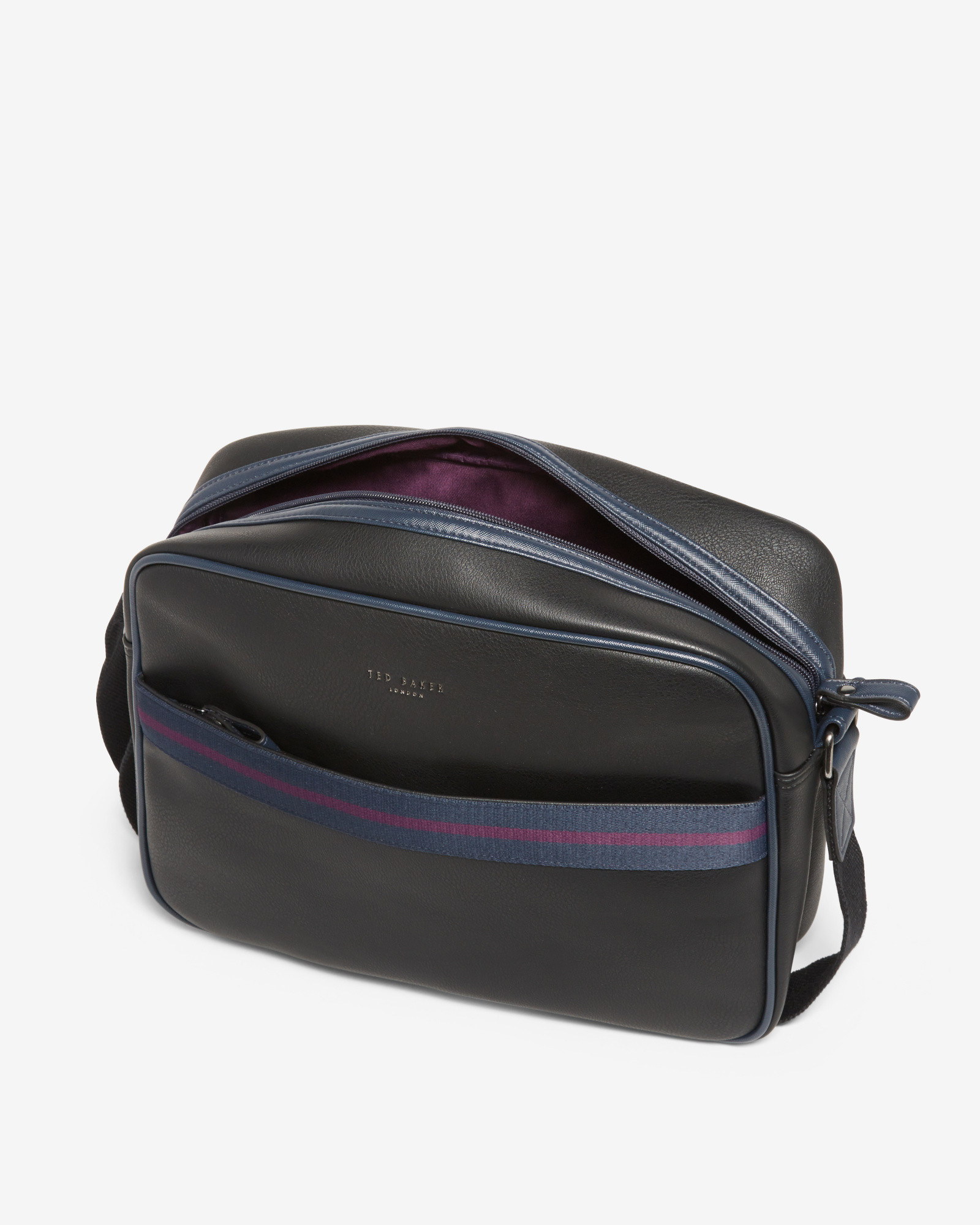 Lyst - Ted Baker Striped Webbing Flight Bag for Men d828d902b237d