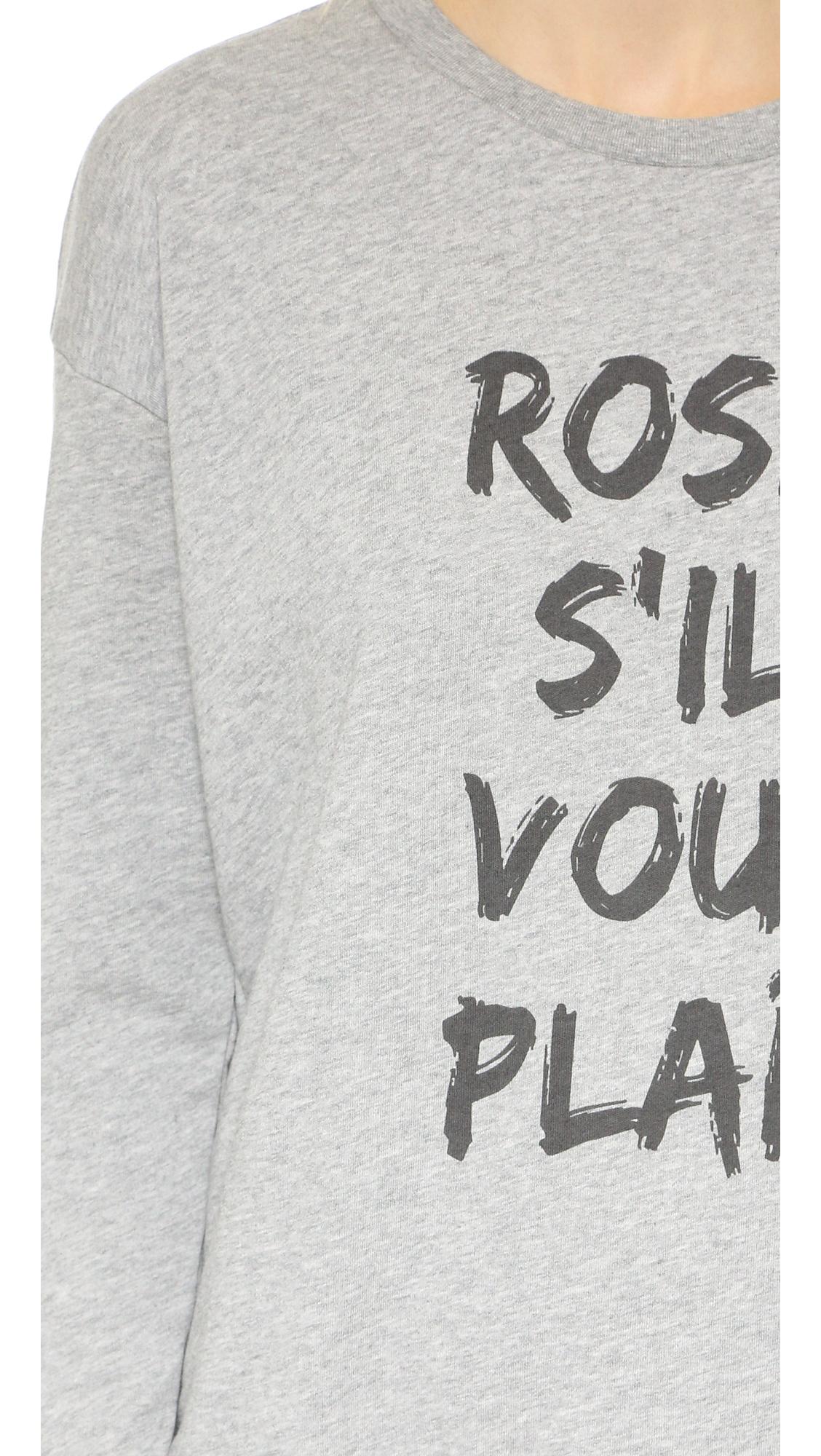 south parade rose s 39 il vous plait sweatshirt in gray lyst. Black Bedroom Furniture Sets. Home Design Ideas