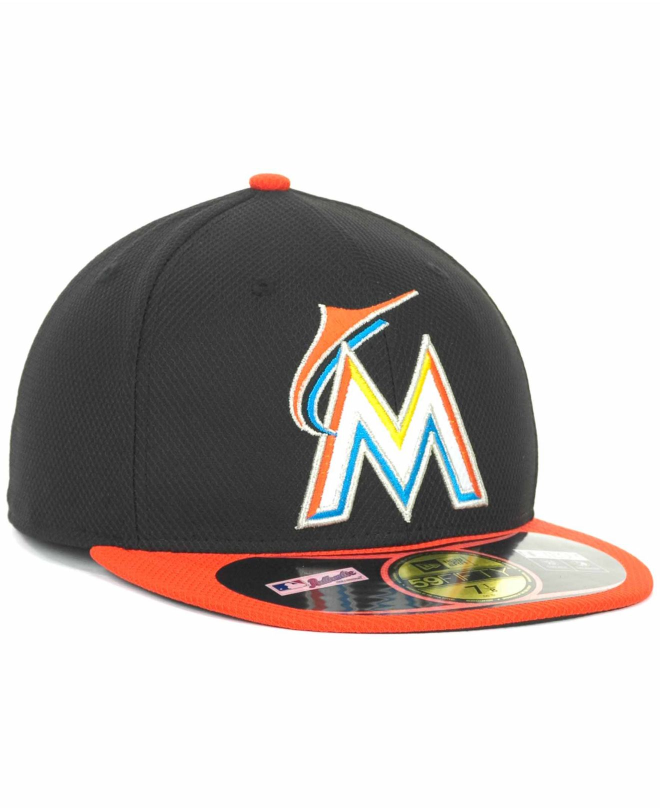 255f9025 usa lyst ktz miami marlins 59fifty fitted cap in black for men ed4a0 1af60