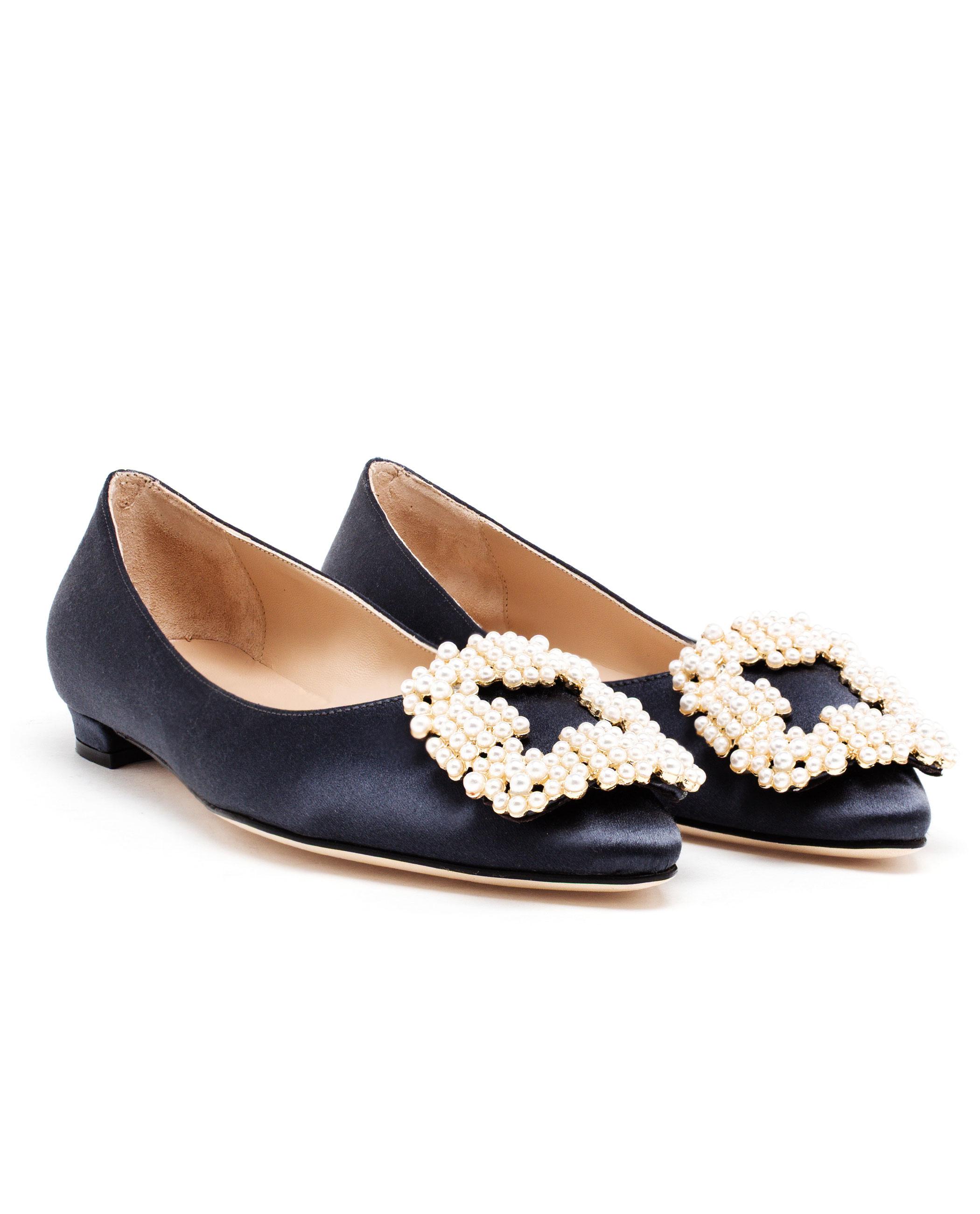 Grey Satin Shoes Size