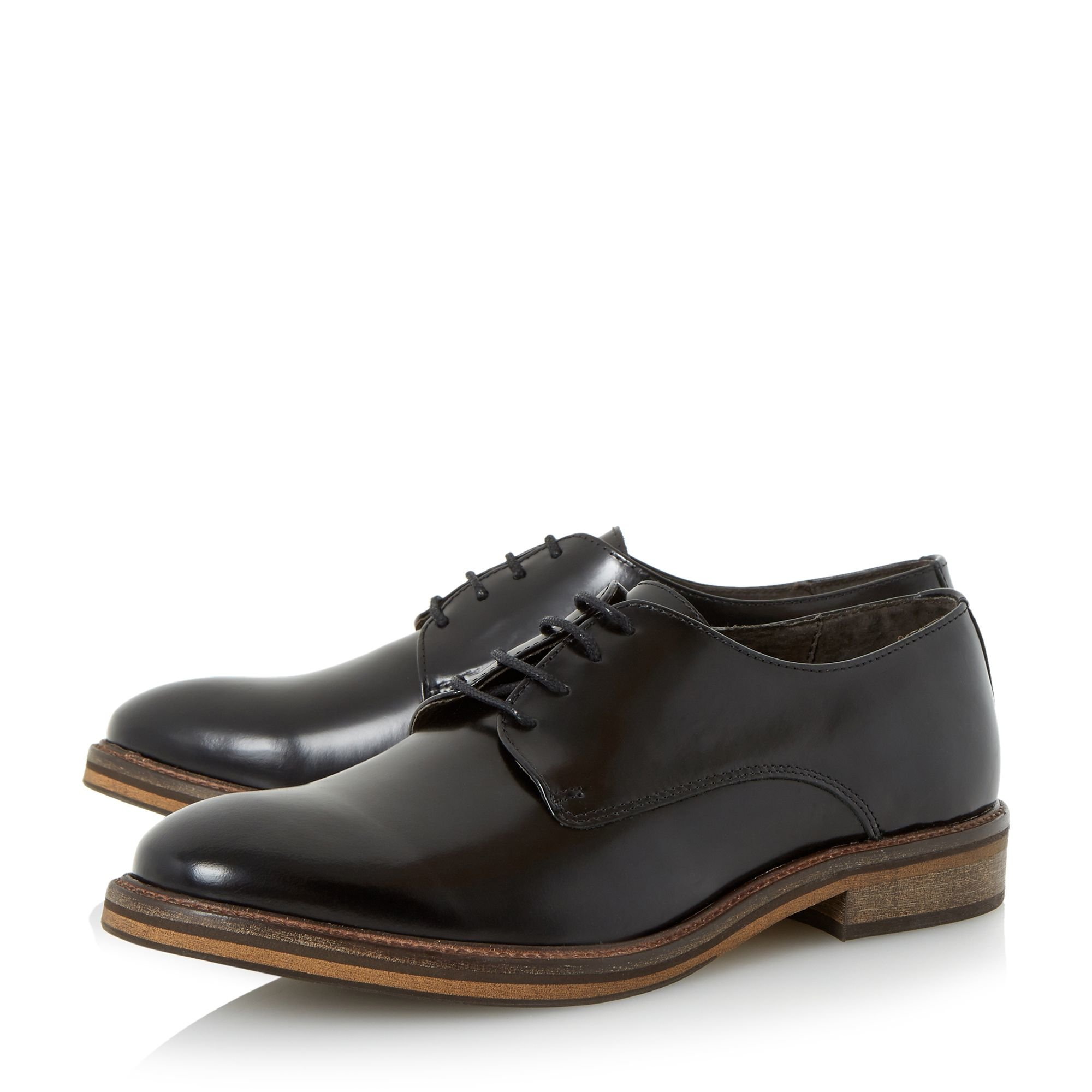 bertie rolo oxford formal shoes in black for lyst