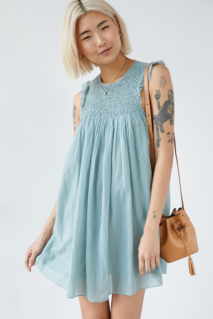 Kimchi blue smocked dress