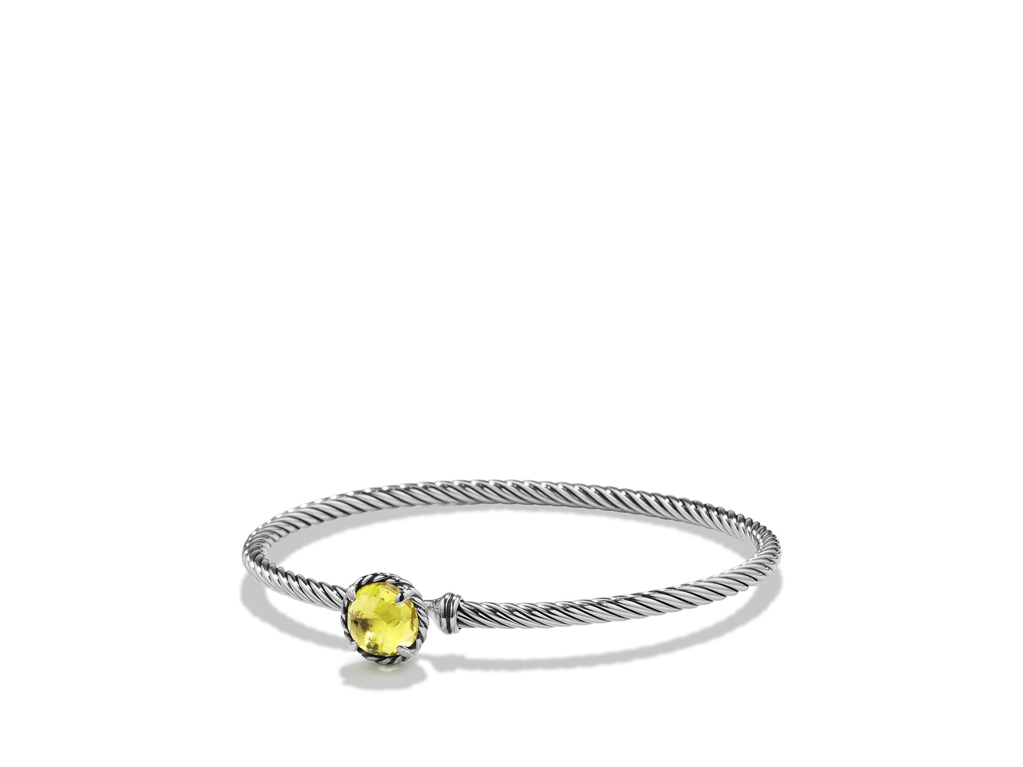 David Yurman Chatelaine Bracelet With Lemon Citrine In