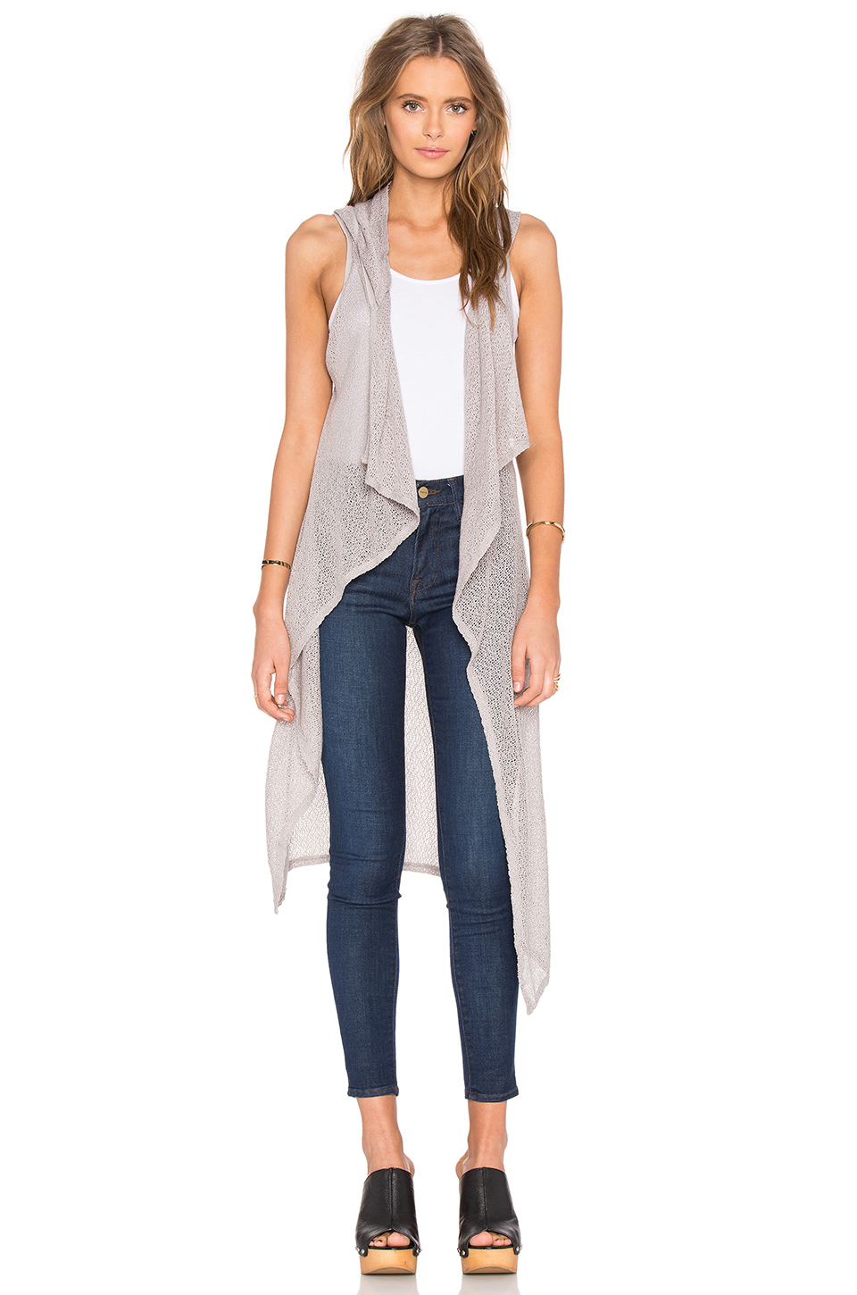 28  [ Sleeveless Long Cardigan Sweater ] | Latoya Sleeveless Long ...