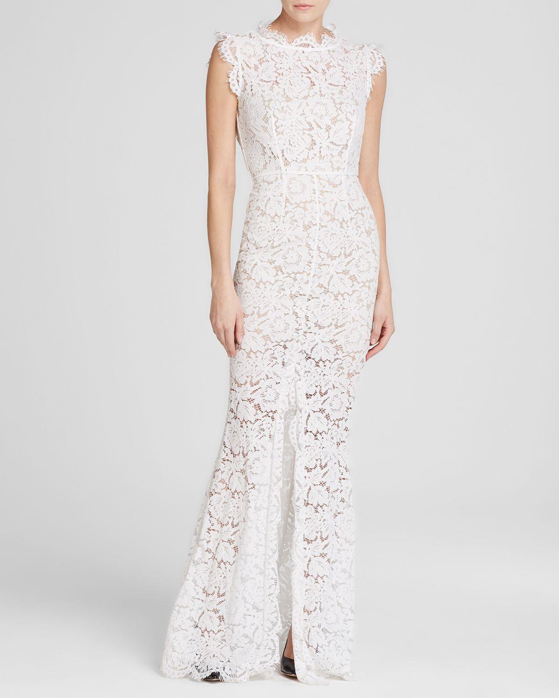 4918297c73ff Rachel Zoe Dress - Estelle Back Cut-Out Lace Maxi in White - Lyst