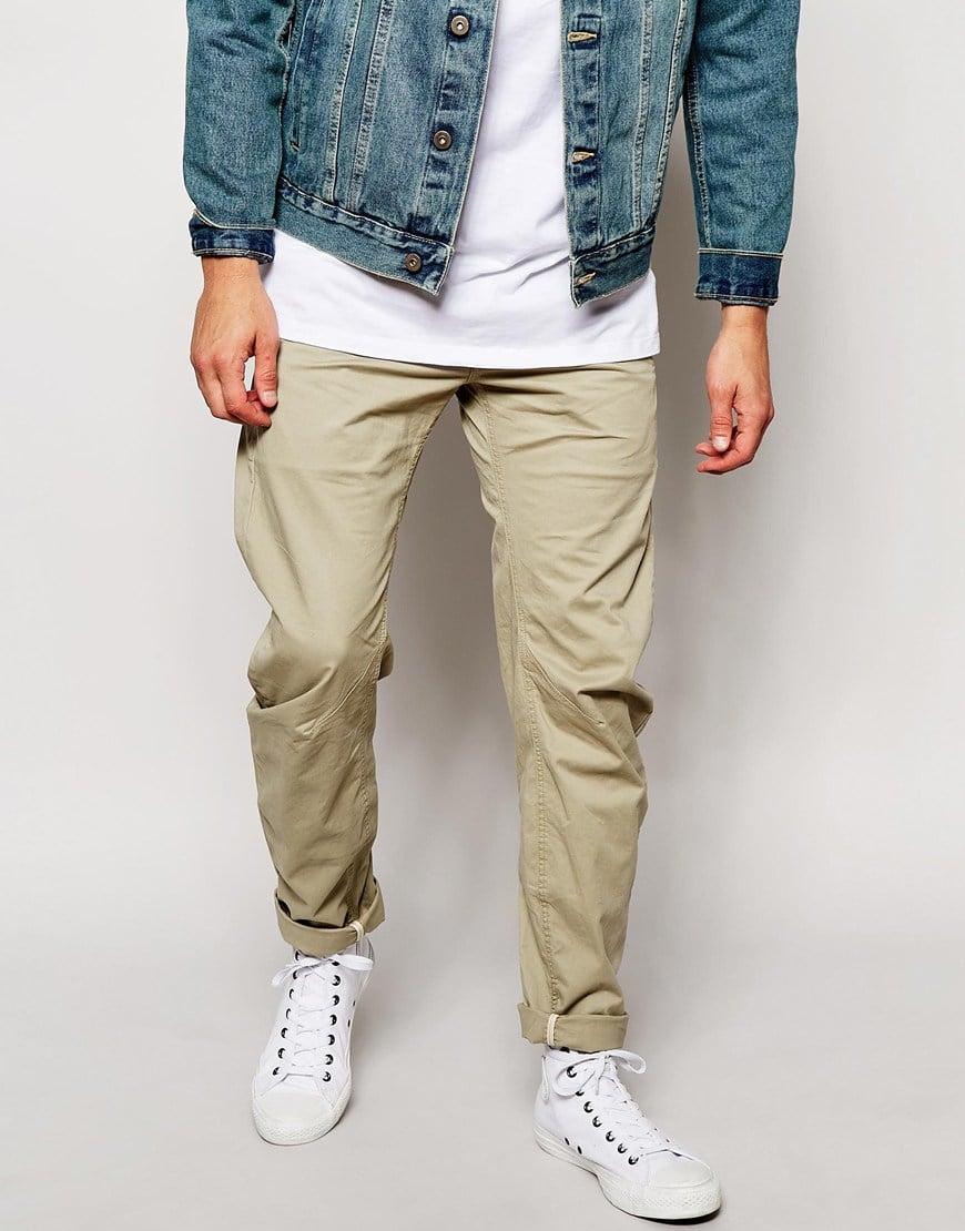 da905e4dbda G-Star RAW Chino Pants Bronson 3d Slim Fit Micro Stretch in Natural ...