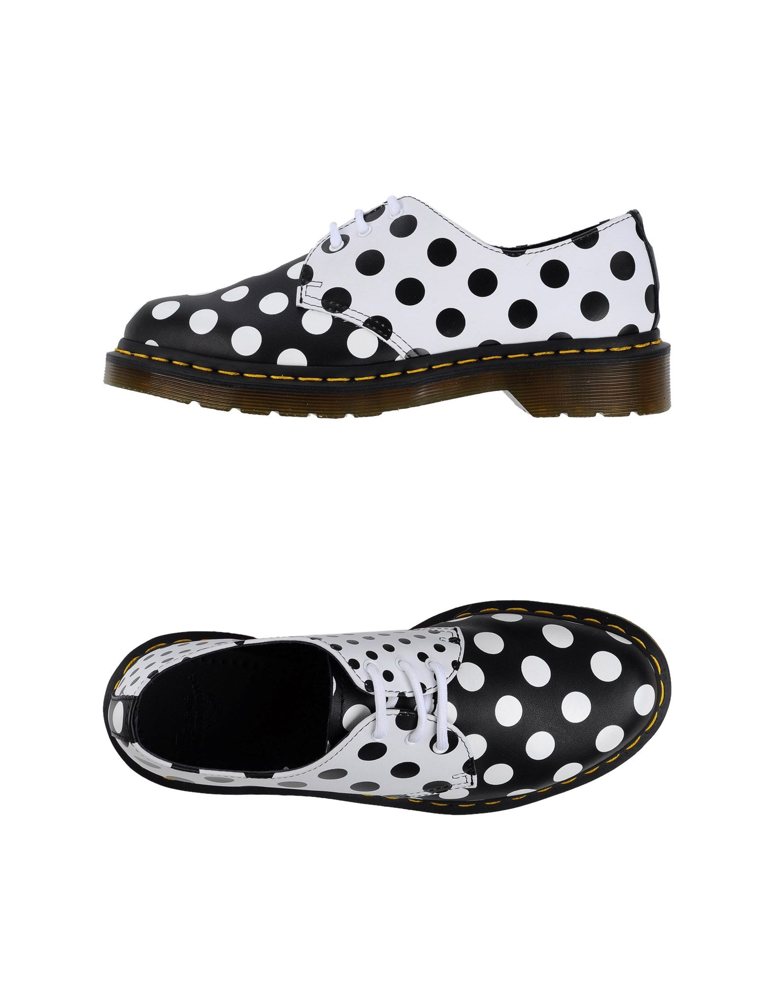 Shoe Lace Black And White Dots