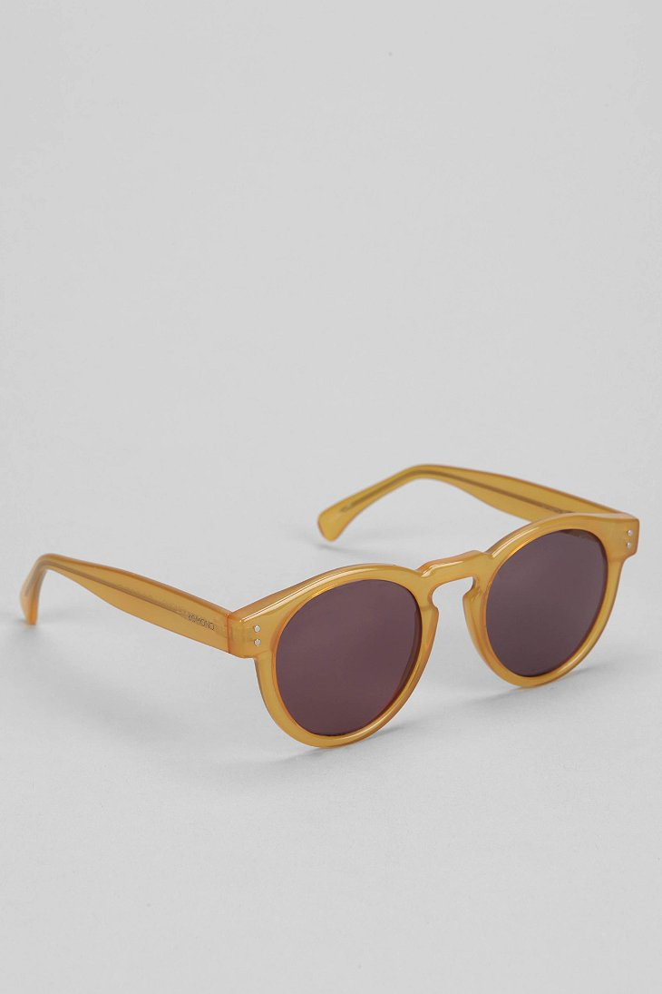 Komono Clement Round Sunglasses  komono clement round sunglasses in natural for men lyst