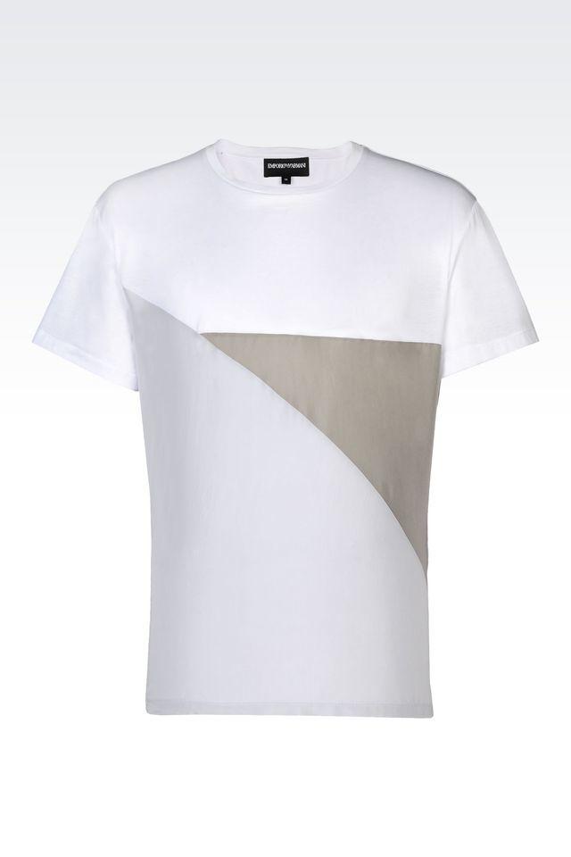 emporio armani short sleeve t shirt in white for men lyst. Black Bedroom Furniture Sets. Home Design Ideas