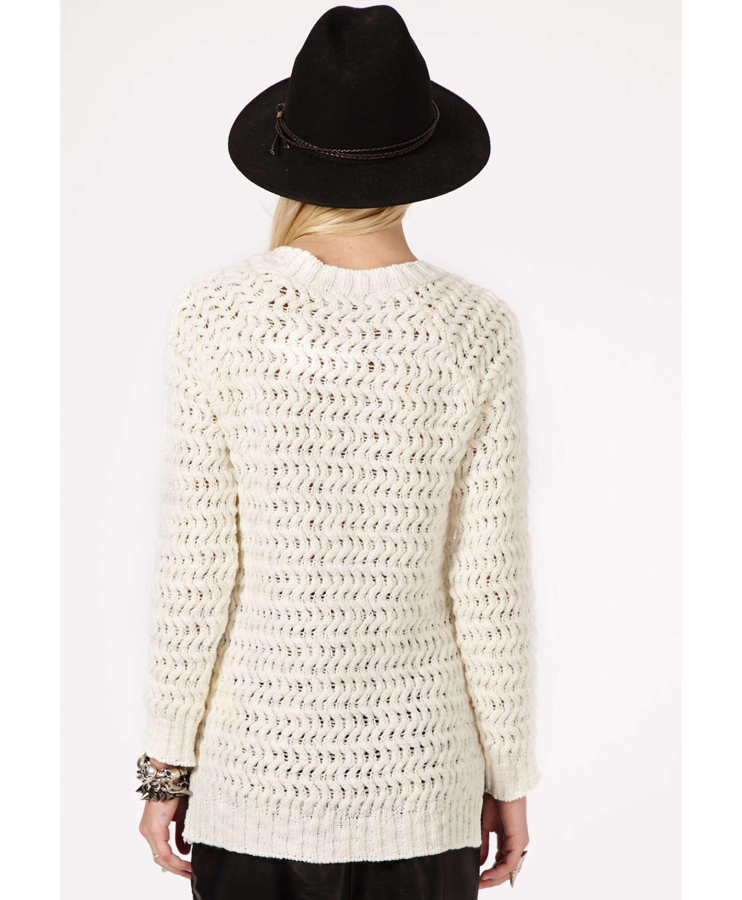 Knitting Pattern Plain Jumper : Missguided Enilda Plain Knitted Jumper in Cream in White (cream) Lyst