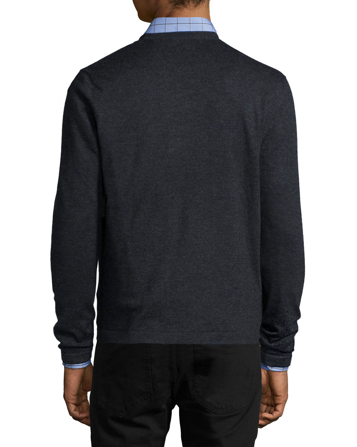 Neiman Marcus Tuck-Stitch Cashmere Crewneck Sweater Discount For Nice Get Authentic Online NUfkwT