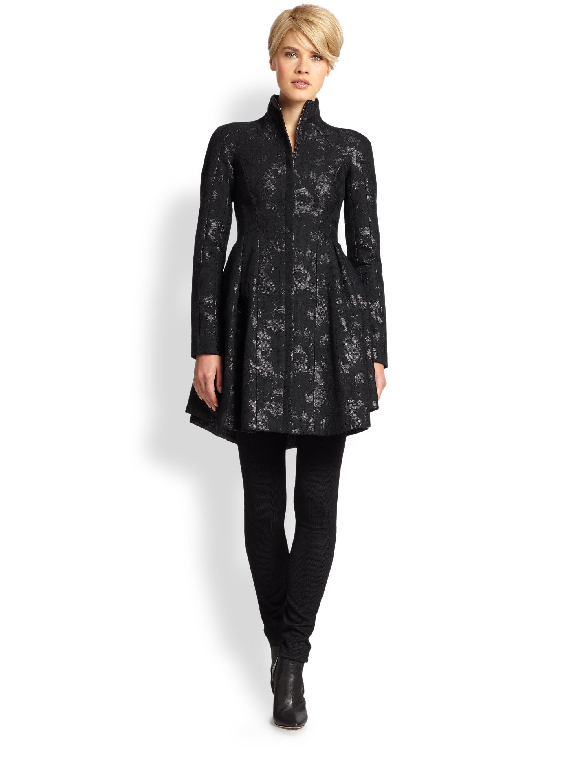 Nanette lepore Long-Sleeve Luxe Garden Jacket in Black