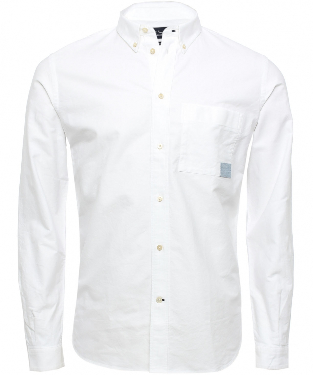 Paul Smith Oxford Shirt In White For Men Lyst