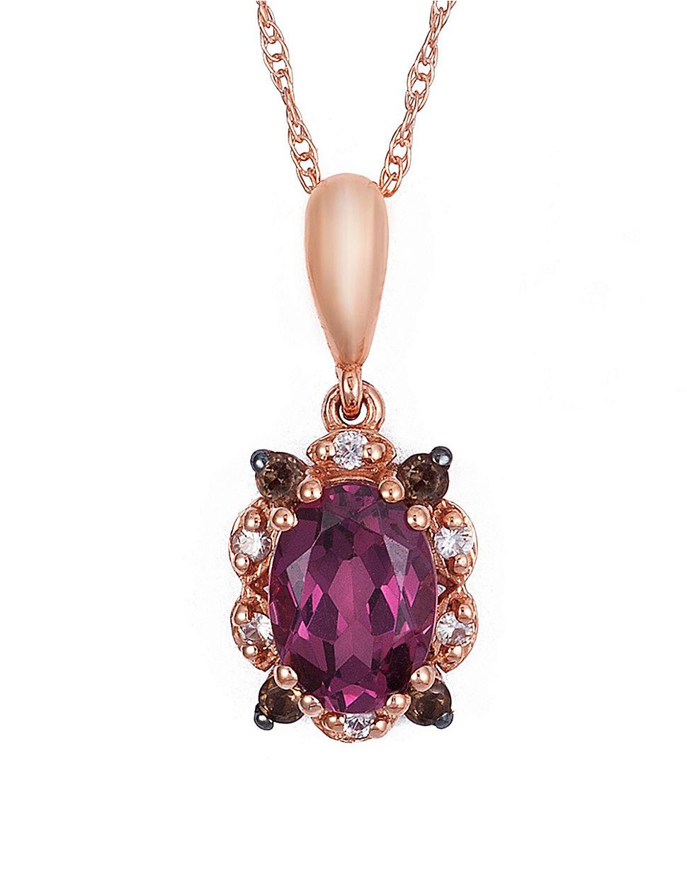 Le Vian Raspberry Rhodolite Vanilla Sapphire And