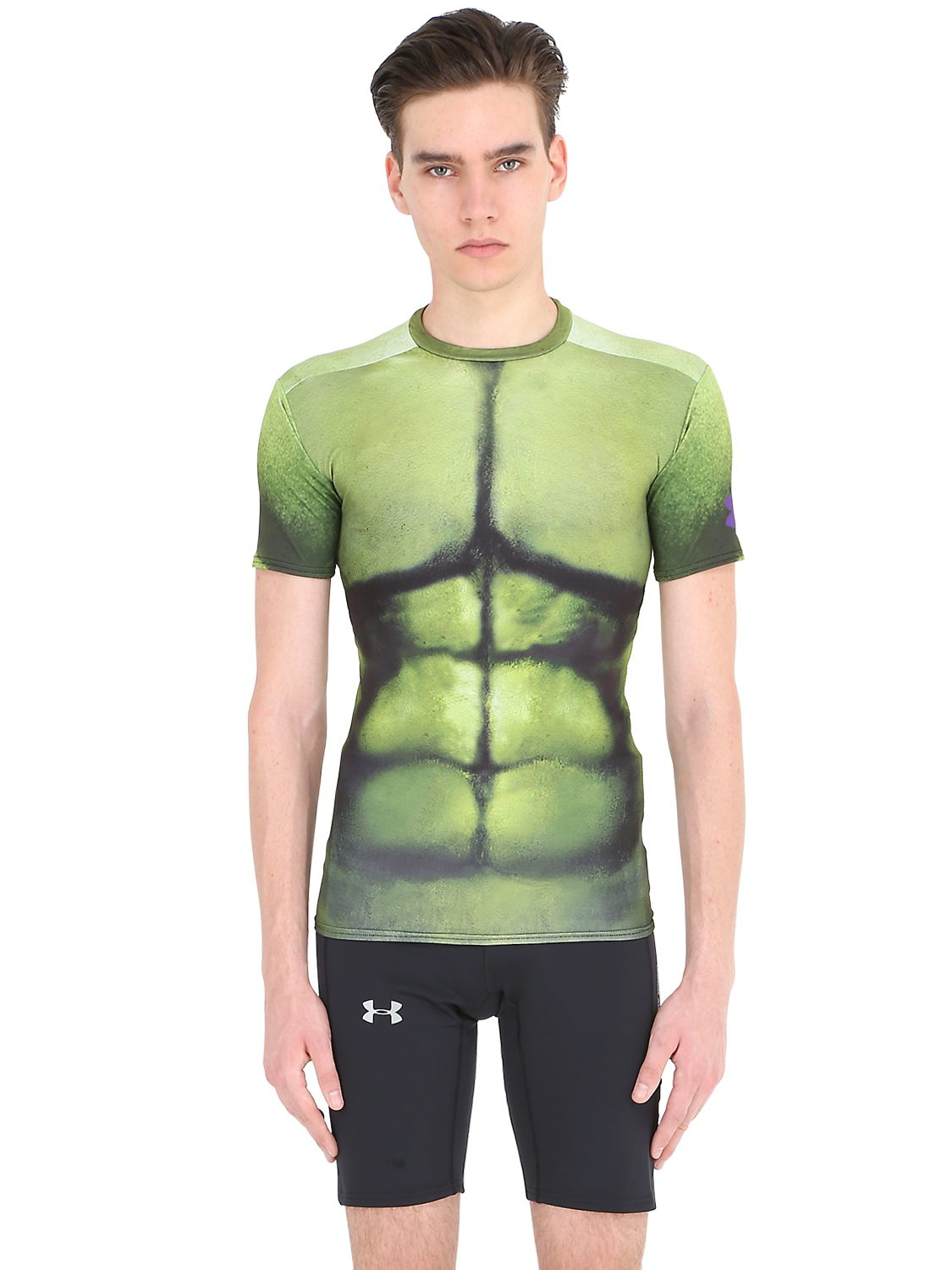 new york utterly stylish new high Under Armour Hulk Compression Base Layer T-shirt in Green ...