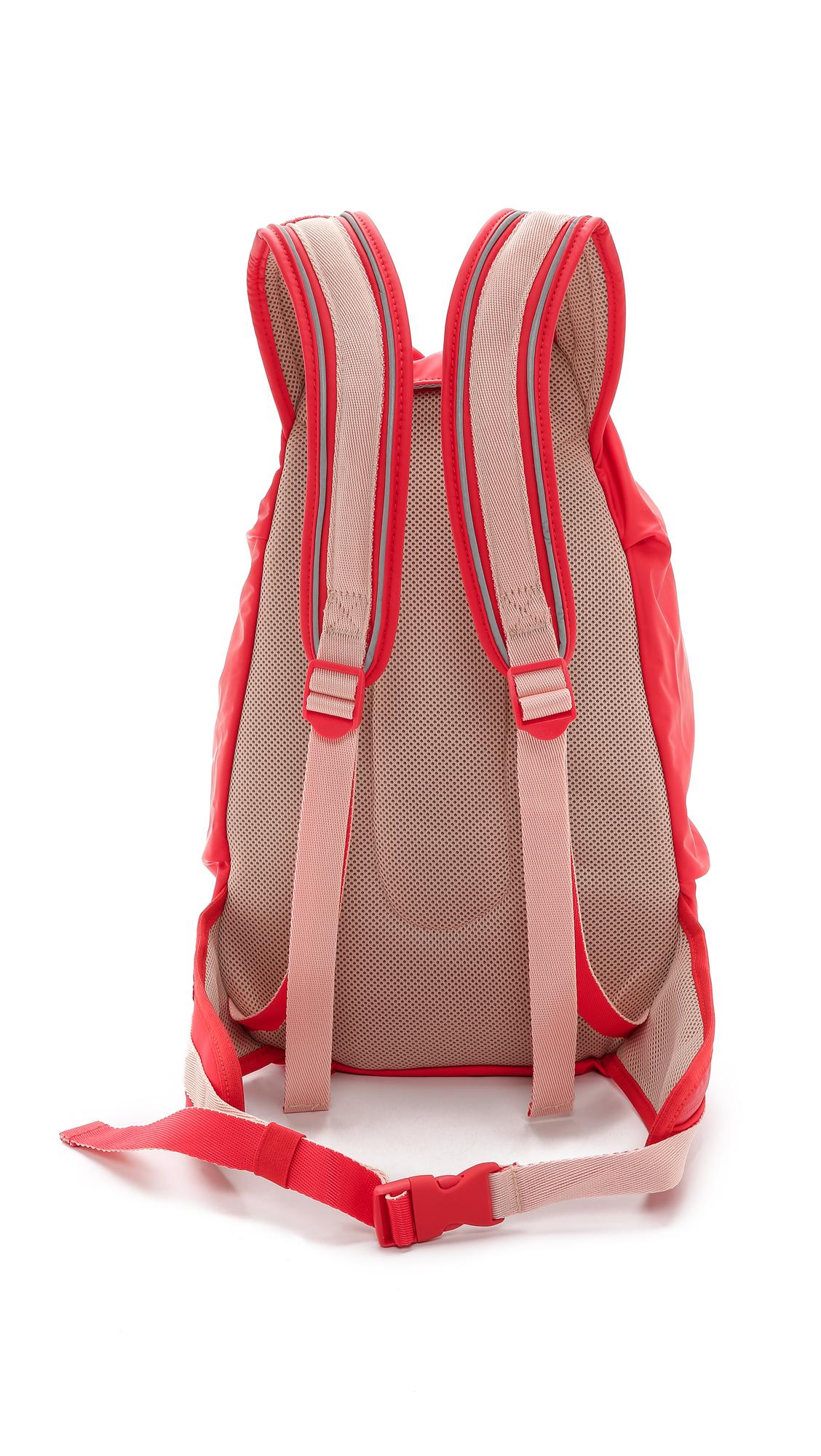 Lyst - adidas By Stella McCartney Running Cycling Backpack - Scarlet ... 4db1a5efbdc3d