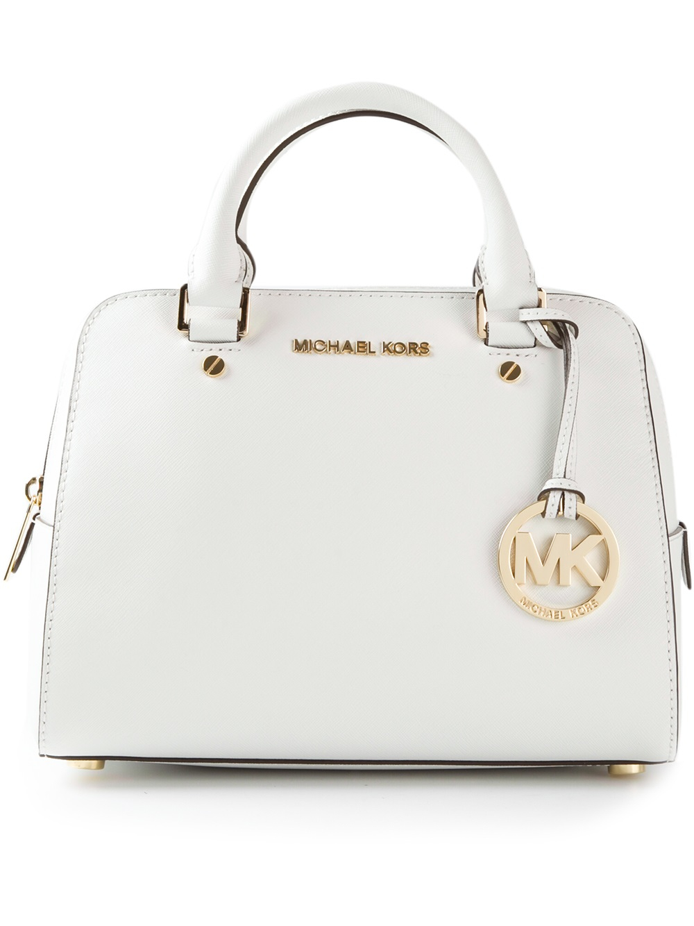 ed37618ba9673 ... order lyst michael kors mini bowling bag in white 8c8d6 a512a
