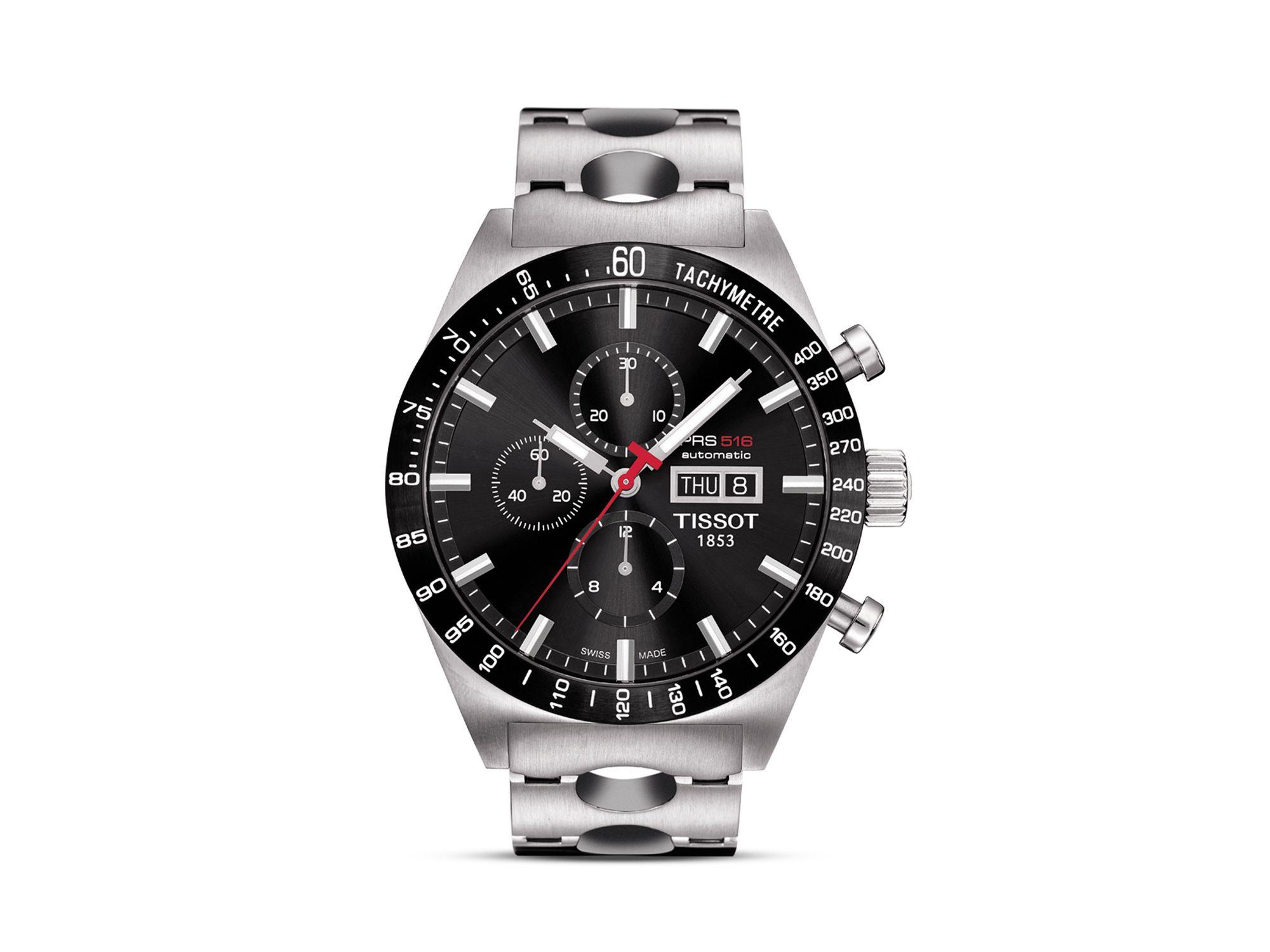 3a32dd2672ea Lyst - Tissot Prs516 Men s Black Automatic Chronograph Steel Watch ...