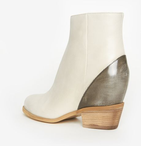 Maison Margiela Wedge Boot In White White Grey Lyst
