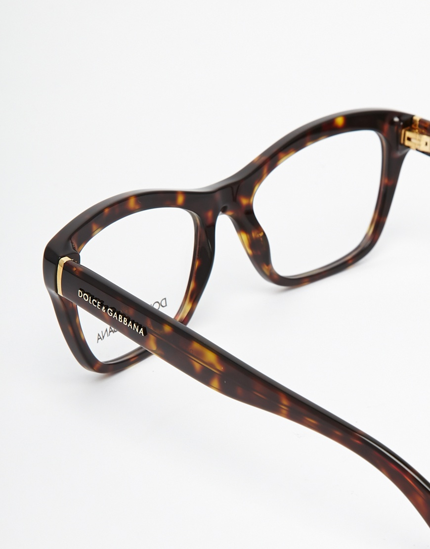 Dolce And Gabbana Sunglasses Foldable  dolce gabbana tortoises clubmaster glasses in brown lyst