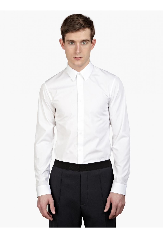 Jil sander men s white slim fit beata shirt in white for for Jil sander mens shirt