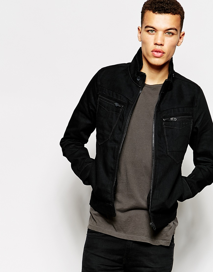 star raw g star denim jacket arc zip slim 3d black 3d raw for men. Black Bedroom Furniture Sets. Home Design Ideas