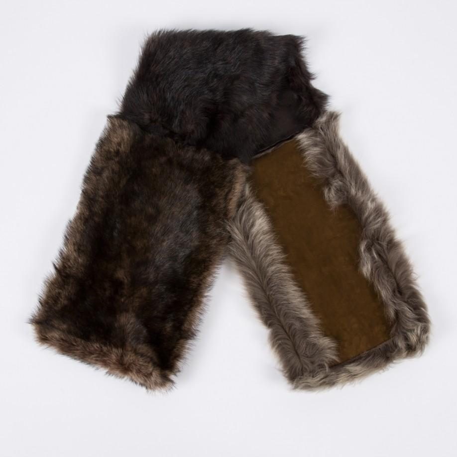paul smith s mainline sheepskin scarf in brown