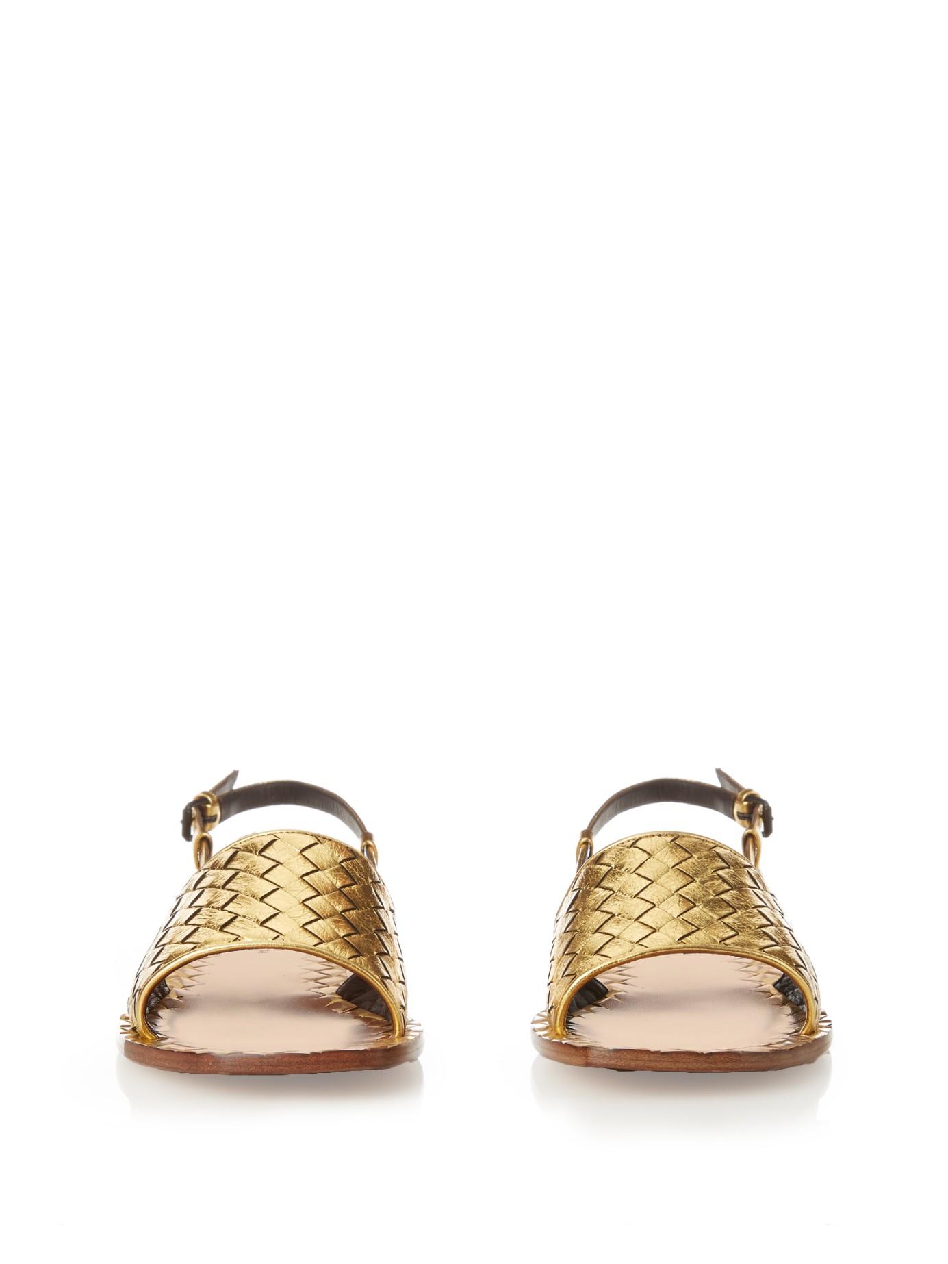 Bottega Veneta Intrecciato Leather Sandals outlet finishline 2014 newest cheap online buy cheap affordable get to buy online s8ebA1gM5
