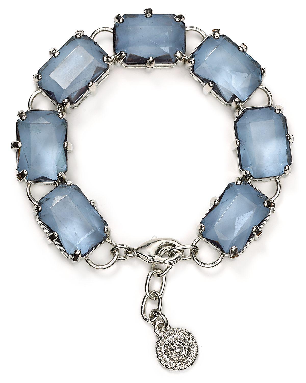 aqua dottie rectangular bracelet in silver silver