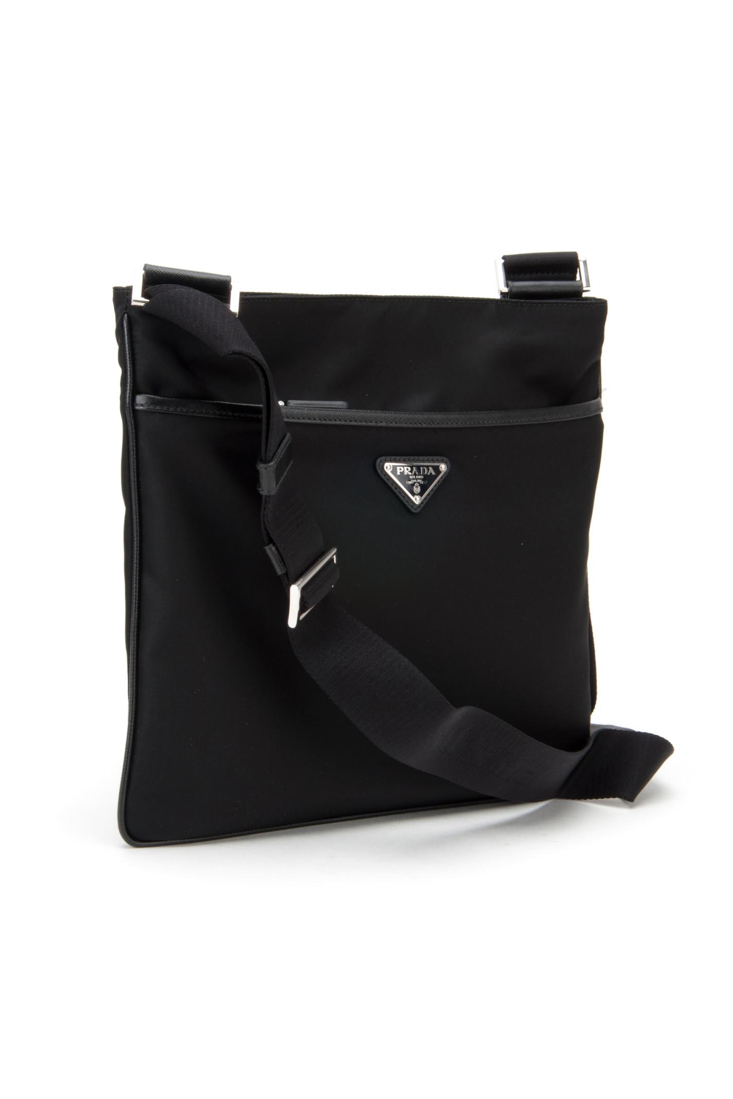 Prada Borsa Viaggio Tessuto+saffiano in Black for Men (NERO) | Lyst