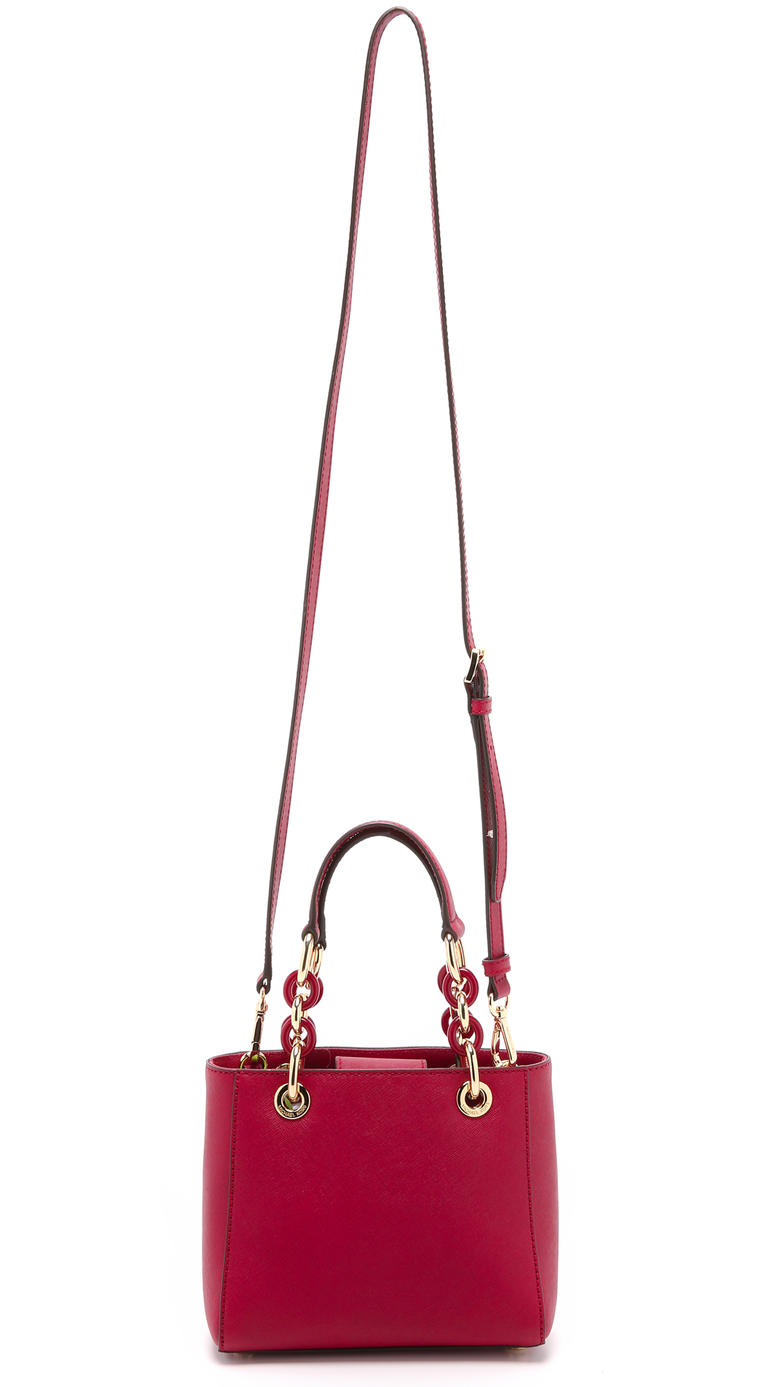... michael michael kors cynthia extra small satchel cherry in purple ... 9f59a4351fa