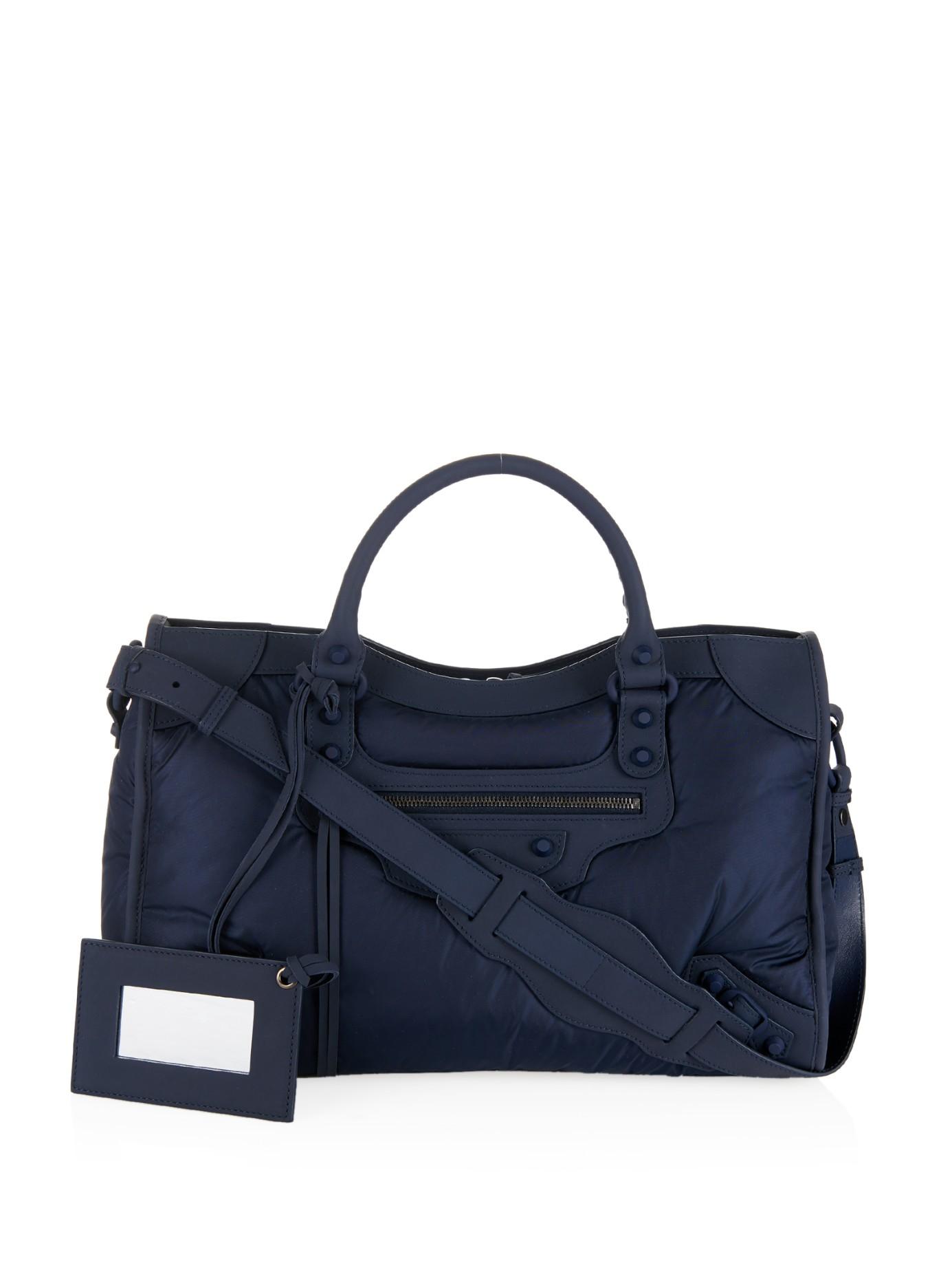 Balenciaga Classic City Nylon Bag In Blue Lyst
